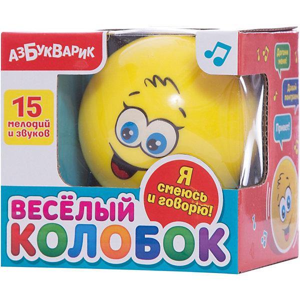 Музыкальная игрушка Веселый колобок, цвет желтый, АзбукварикДетские музыкальные инструменты<br>Музыкальная игрушка Веселый колобок, цвет желтый, Азбукварик.<br><br>Характеристики:<br><br>• Для детей в возрасте от 3 лет<br>• Особенности: 15 мелодий и звуков<br>• Диаметр игрушки: 8 см.<br>• Материал: качественная пластмасса с элементами из металла<br>• Цвет: желтый<br>• Батарейки: 3 x AG13 / LR44 (входят в комплект)<br>• Упаковка: картонная коробка<br>• Размер упаковки: 9 х 9 х 9 см.<br><br>Веселый колобок станет любимой игрушкой вашего малыша! Ребенок сможет катать его по полу, как мячик, и слушать забавные звуки и мелодии. Колобок всегда улыбается – и малыш будет обязательно улыбаться в ответ!<br><br>Музыкальную игрушку Веселый колобок, цвет желтый, Азбукварик можно купить в нашем интернет-магазине.<br>Ширина мм: 800; Глубина мм: 800; Высота мм: 80; Вес г: 125; Возраст от месяцев: 24; Возраст до месяцев: 48; Пол: Унисекс; Возраст: Детский; SKU: 5577787;