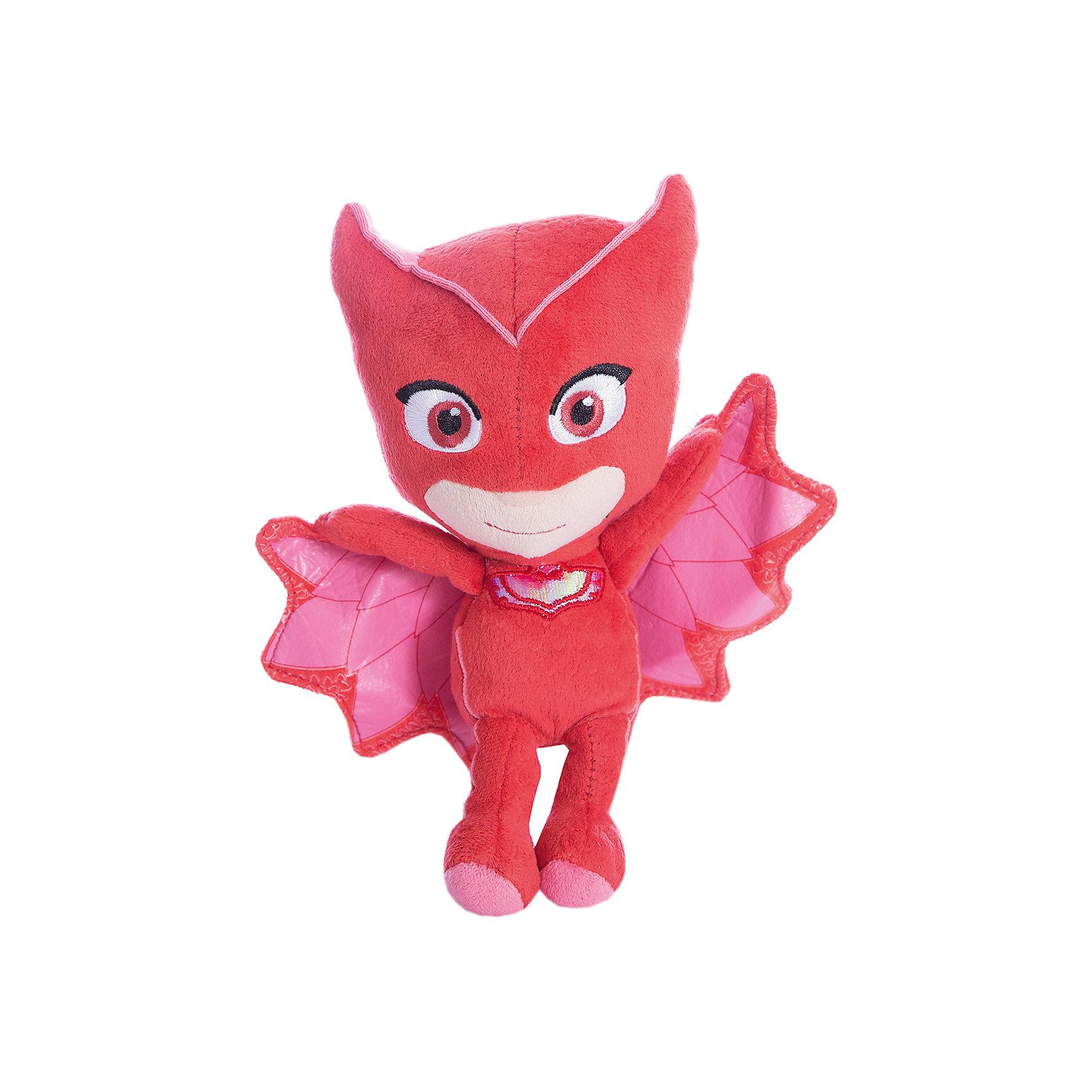 Мягкая игрушка Атлетт, Герои в масках,  20 см.Любимые герои<br>Мягкая игрушка Алетт - персонаж мультфильма Герои в масках - с удовольствием составит вашему малышу компанию в веселых играх, помогая ему развивать фантазию, речь, тактильное и цветовое восприятие и многое другое. А чтобы игры были еще интереснее, вы можете приобрести других героев мультфильма: Гекко, Кэтбоя и Ромео.&#13;<br>Мягкая игрушка Алетт ТМ Герои в масках высотой 20 см сшита из качественных текстильных материалов, декорирована вышивкой, снизу наполнена шариками антистресс для устойчивости. Товар сертифицирован.<br><br>Ширина мм: 80<br>Глубина мм: 70<br>Высота мм: 200<br>Вес г: 97<br>Возраст от месяцев: 36<br>Возраст до месяцев: 2147483647<br>Пол: Унисекс<br>Возраст: Детский<br>SKU: 5577969