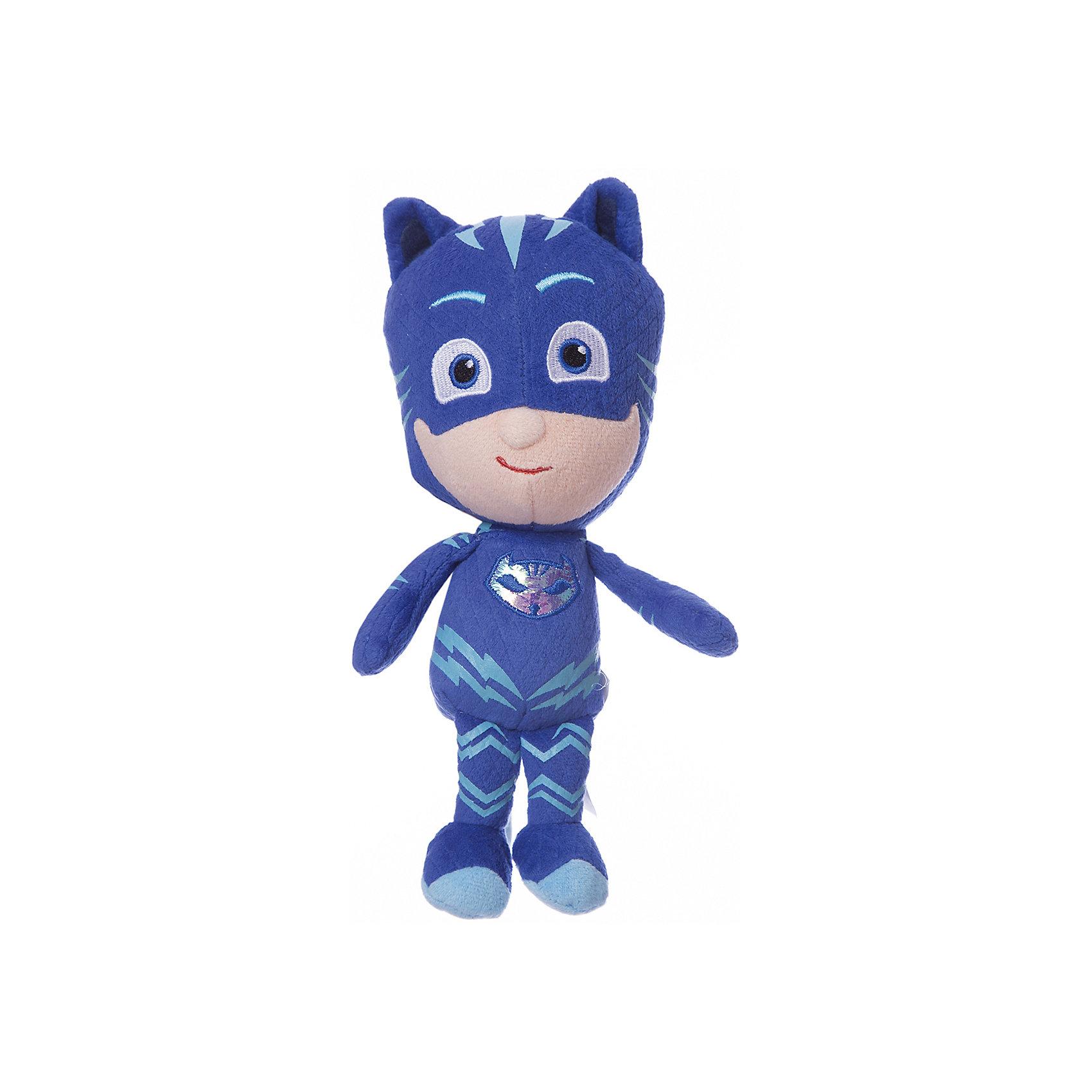Мягкая игрушка Кэтбой, Герои в масках,  20 см.Любимые герои<br>Мягкая игрушка Кэтбой - персонаж мультфильма Герои в масках - с удовольствием составит вашему малышу компанию в веселых играх, помогая ему развивать фантазию, речь, тактильное и цветовое восприятие и многое другое. А чтобы игры были еще интереснее, вы можете приобрести других героев мультфильма: Алетт, Гекко и Ромео.&#13;<br>Мягкая игрушка Кэтбой ТМ Герои в масках высотой 20 см сшита из качественных текстильных материалов, декорирована вышивкой, снизу содержит шарики антистресс для устойчивости. Товар сертифицирован.<br><br>Ширина мм: 80<br>Глубина мм: 70<br>Высота мм: 200<br>Вес г: 97<br>Возраст от месяцев: 36<br>Возраст до месяцев: 2147483647<br>Пол: Унисекс<br>Возраст: Детский<br>SKU: 5577971