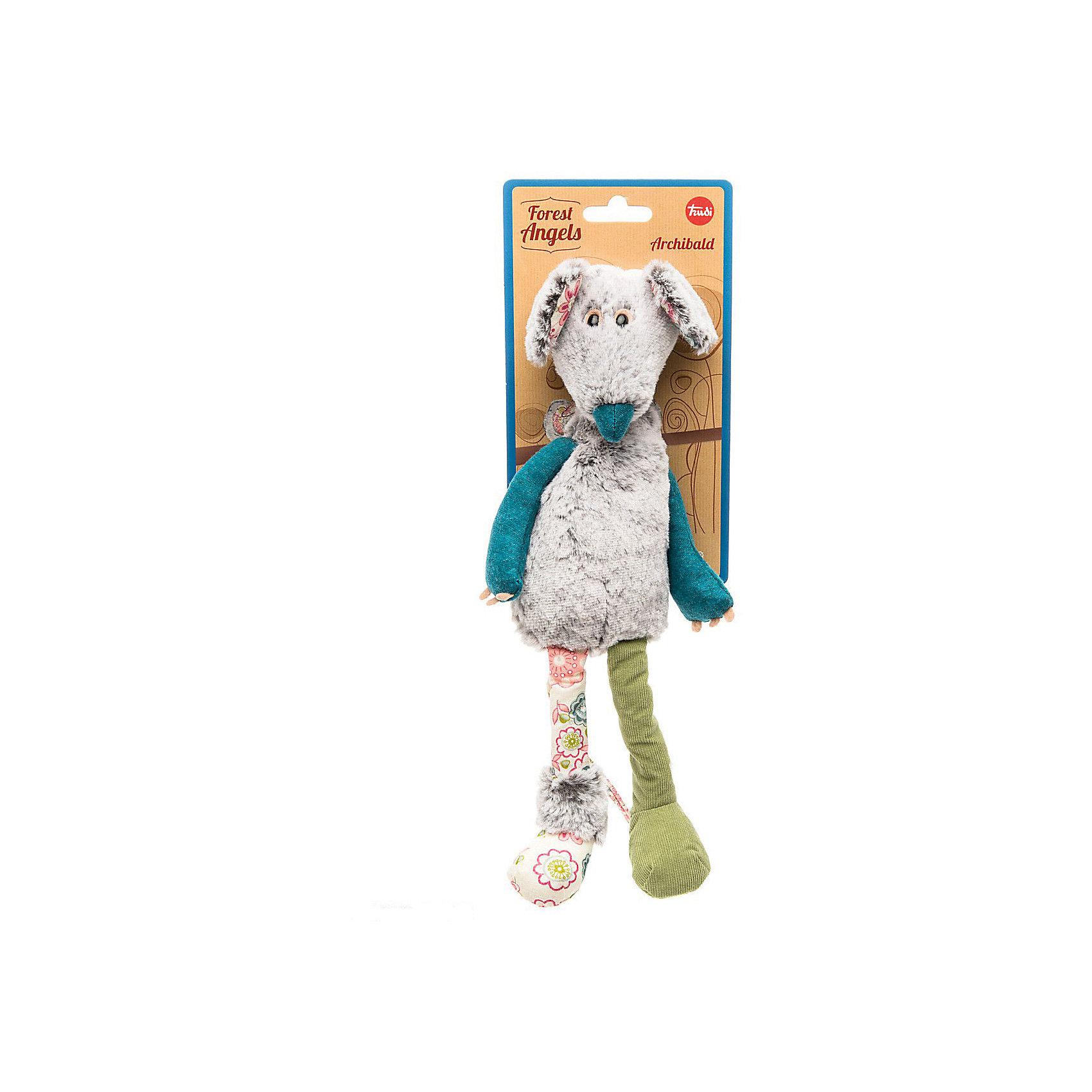 Мышь Арчибальд, 33 см, TrudiЗвери и птицы<br>Характеристики товара:<br><br>• возраст от 1 года;<br>• материал: искусственный мех, текстиль;<br>• высота игрушки 33 см;<br>• размер упаковки 23х19,5х12,5 см;<br>• вес упаковки 100 гр.;<br>• страна производитель Китай.<br><br>Мышь Арчибальд Trudi — забавная мягкая игрушка в виде мышонка с большими ушками, добрыми глазками. Арчибальд одет в кофту с длинными синими рукавами. Играя с игрушкой, малыш может придумывать свои истории и сюжеты. У него развиваются воображение, фантазия, тактильные ощущения во время игры. Игрушка изготовлена из качественных экологически чистых материалов.<br><br>Мышь Арчибальд Trudi можно приобрести в нашем интернет-магазине.<br><br>Ширина мм: 195<br>Глубина мм: 125<br>Высота мм: 230<br>Вес г: 100<br>Возраст от месяцев: 12<br>Возраст до месяцев: 2147483647<br>Пол: Унисекс<br>Возраст: Детский<br>SKU: 5578409