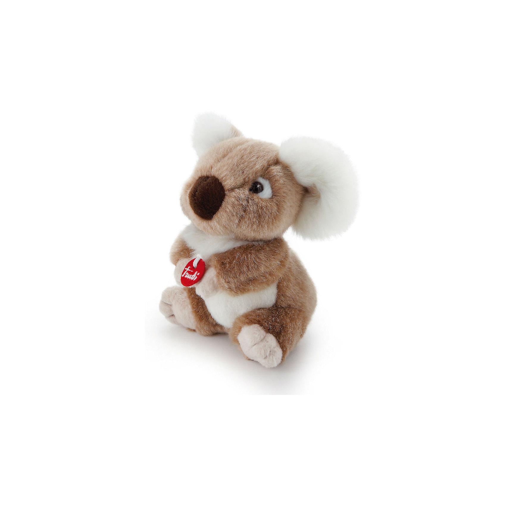 Коала, 15 см, TrudiМягкие игрушки животные<br>Характеристики товара:<br><br>• возраст от 1 года;<br>• материал: искусственный мех, пластик;<br>• высота игрушки 15 см;<br>• размер упаковки 13х14х9,5 см;<br>• вес упаковки 60 гр.;<br>• страна производитель Китай.<br><br>Коала Trudi — невероятная и милая мягкая игрушка для детей от 1 года. Она сделана из приятного на ощупь материала, малыш может обнимать ее и брать с собой спать в кроватку. В процессе игры у ребенка развиваются тактильные ощущения, воображение и фантазия. Игрушку можно стирать в стиральной машине при температуре 30 градусов. Изготовлена из качественного безвредного материала.<br><br>Коалу Trudi 15 см можно приобрести в нашем интернет-магазине.<br><br>Ширина мм: 95<br>Глубина мм: 130<br>Высота мм: 140<br>Вес г: 60<br>Возраст от месяцев: 12<br>Возраст до месяцев: 2147483647<br>Пол: Унисекс<br>Возраст: Детский<br>SKU: 5578410