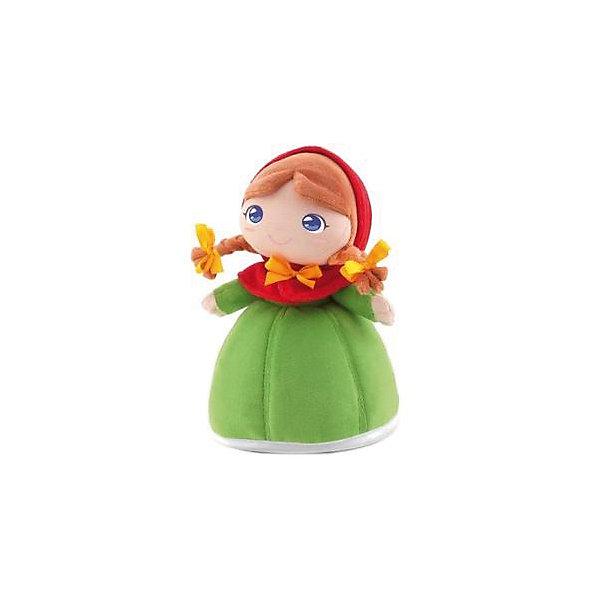 Мягкая кукла принцесса Розелла, 24 см, TrudiКуклы<br>Характеристики товара:<br><br>• возраст с рождения;<br>• материал: плюш, текстиль, синтепон;<br>• высота игрушки 24 см;<br>• размер упаковки 26х19х12 см;<br>• вес упаковки 120 гр.;<br>• страна производитель Китай.<br><br>Мягкая кукла принцесса Розелла Trudi — улыбающаяся принцесса с большими голубыми глазками и двумя косичками с бантиками. Розелла одета в зеленое платье с красным капюшоном. В процессе игры девочка может придумывать с куколкой свои невероятные сюжеты и истории. Игрушка способствует развитию тактильных ощущений, воображения и фантазии. Кукла изготовлена из качественного материала, который не вызывает у детей аллергических реакций. Игрушку можно стирать в стиральной машине, она не выгорает и сохраняет форму.<br><br>Мягкую куклу принцесса Розелла Trudi можно приобрести в нашем интернет-магазине.<br><br>Ширина мм: 260<br>Глубина мм: 190<br>Высота мм: 120<br>Вес г: 120<br>Возраст от месяцев: -2147483648<br>Возраст до месяцев: 2147483647<br>Пол: Женский<br>Возраст: Детский<br>SKU: 5578413