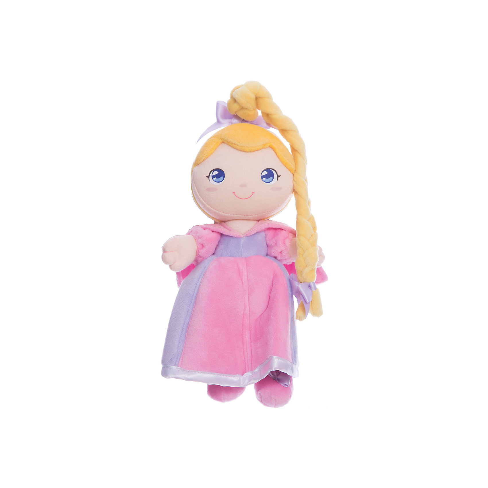 Мягкая кукла принцесса Роза, 24 см, TrudiМягкие куклы<br>Характеристики товара:<br><br>• возраст с рождения;<br>• материал: плюш, текстиль, синтепон;<br>• высота игрушки 24 см;<br>• размер упаковки 26х19х12 см;<br>• вес упаковки 120 гр.;<br>• страна производитель Китай.<br><br>Мягкая кукла принцесса Роза Trudi — улыбающаяся принцесса с большими голубыми глазками и длинной косичкой. Роза одета в нежное розовое платье. В процессе игры девочка может придумывать с куколкой свои невероятные сюжеты и истории. Игрушка способствует развитию тактильных ощущений, воображения и фантазии. Кукла изготовлена из качественного материала, который не вызывает у детей аллергических реакций. Игрушку можно стирать в стиральной машине, она не выгорает и сохраняет форму.<br><br>Мягкую куклу принцесса Роза Trudi можно приобрести в нашем интернет-магазине.<br><br>Ширина мм: 260<br>Глубина мм: 190<br>Высота мм: 120<br>Вес г: 120<br>Возраст от месяцев: -2147483648<br>Возраст до месяцев: 2147483647<br>Пол: Женский<br>Возраст: Детский<br>SKU: 5578414