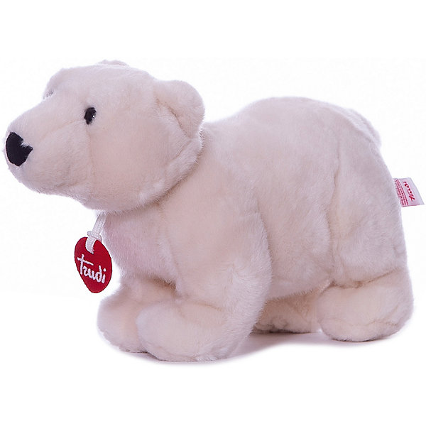 Полярный медведь Пласидо, 28 см, TrudiМягкие игрушки животные<br>Характеристики товара:<br><br>• возраст от 1 года;<br>• материал: плюш, пластик;<br>• высота игрушки 28 см;<br>• размер упаковки 25х15х18 см;<br>• вес упаковки 177 гр.;<br>• страна производитель Индонезия.<br><br>Полярный медведь Пласидо 28 см Trudi — мягкий белоснежный медвежонок с мягкими лапками, черным носиком и темными глазками. Медведь изготовлен из качественного безопасного материала, приятного на ощупь. Малыш моежт играть с игрушкой дома, брать на прогулку или в кроватку перед сном. Играя с игрушкой, у него развиваются тактильные ощущения, воображение.<br><br>Полярного медведя Пласидо 28 см Trudi можно приобрести в нашем интернет-магазине.<br>Ширина мм: 150; Глубина мм: 250; Высота мм: 180; Вес г: 177; Возраст от месяцев: 12; Возраст до месяцев: 2147483647; Пол: Унисекс; Возраст: Детский; SKU: 5578417;