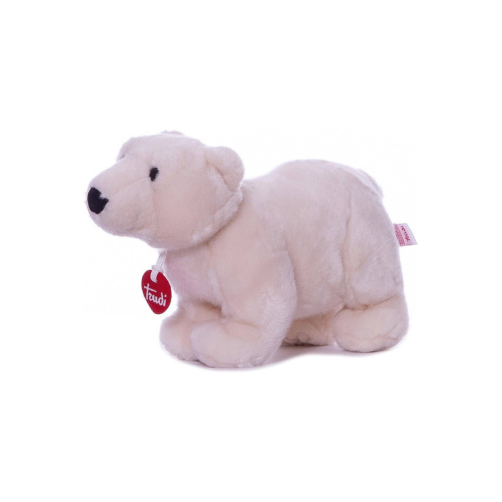 Полярный медведь Пласидо, 28 см, TrudiМедвежата<br>Характеристики товара:<br><br>• возраст от 1 года;<br>• материал: плюш, пластик;<br>• высота игрушки 28 см;<br>• размер упаковки 25х15х18 см;<br>• вес упаковки 177 гр.;<br>• страна производитель Индонезия.<br><br>Полярный медведь Пласидо 28 см Trudi — мягкий белоснежный медвежонок с мягкими лапками, черным носиком и темными глазками. Медведь изготовлен из качественного безопасного материала, приятного на ощупь. Малыш моежт играть с игрушкой дома, брать на прогулку или в кроватку перед сном. Играя с игрушкой, у него развиваются тактильные ощущения, воображение.<br><br>Полярного медведя Пласидо 28 см Trudi можно приобрести в нашем интернет-магазине.<br><br>Ширина мм: 150<br>Глубина мм: 250<br>Высота мм: 180<br>Вес г: 177<br>Возраст от месяцев: 12<br>Возраст до месяцев: 2147483647<br>Пол: Унисекс<br>Возраст: Детский<br>SKU: 5578417