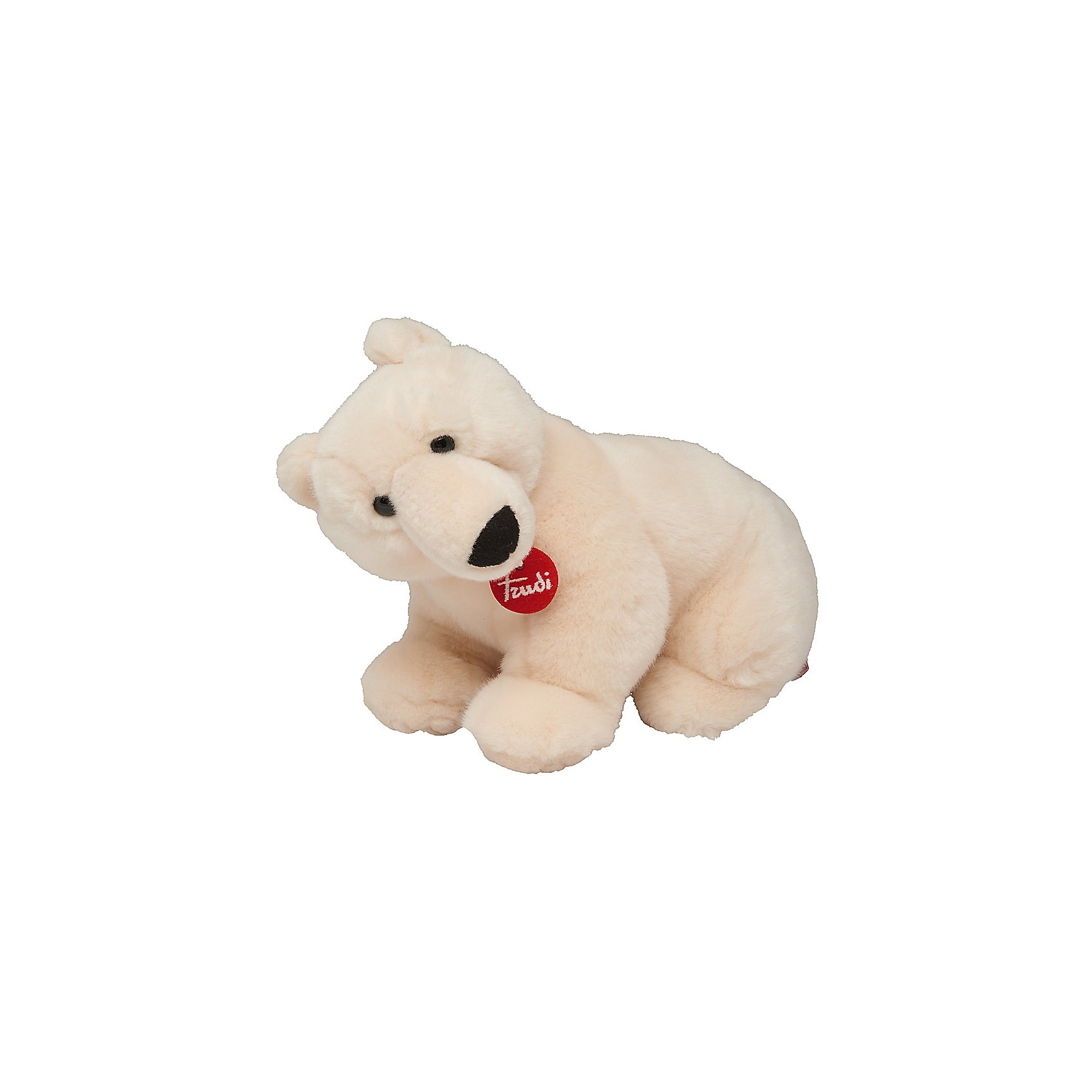 Полярный медведь Пласидо, 36 см, TrudiМедвежата<br>Характеристики товара:<br><br>• возраст от 3 лет;<br>• материал: плюш, пластик;<br>• высота игрушки 36 см;<br>• размер упаковки 29х24х19 см;<br>• вес упаковки 250 гр.;<br>• страна производитель Индонезия.<br><br>Полярный медведь Пласидо 36 см Trudi — мягкий белоснежный медвежонок с мягкими лапками, черным носиком и темными глазками. Медведь изготовлен из качественного безопасного материала, приятного на ощупь. Малыш моежт играть с игрушкой дома, брать на прогулку или в кроватку перед сном. Играя с игрушкой, у него развиваются тактильные ощущения, воображение.<br><br>Полярного медведя Пласидо 36 см Trudi можно приобрести в нашем интернет-магазине.<br><br>Ширина мм: 290<br>Глубина мм: 240<br>Высота мм: 190<br>Вес г: 250<br>Возраст от месяцев: 36<br>Возраст до месяцев: 2147483647<br>Пол: Унисекс<br>Возраст: Детский<br>SKU: 5578418