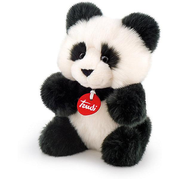 Панда-пушистик, 24 см, TrudiМягкие игрушки животные<br>Характеристики товара:<br><br>• возраст от 3 лет;<br>• материал: искусственный мех, пластик;<br>• высота игрушки 24 см;<br>• размер упаковки 24х10х14 см;<br>• вес упаковки 150 гр.;<br>• страна производитель Индонезия.<br><br>Панда-пушистик Trudi — милая пушистая панда с черными глазками-пуговками, большими мягкими ушками и лапками. Малыш может играть с пандой дома, брать на прогулку или в гости, брать с собой в кроватку перед сном. Игрушка выполнена из приятного на ощупь качественного материала, который безопасен для детей. <br><br>Панду-пушистик Trudi можно приобрести в нашем интернет-магазине.<br><br>Ширина мм: 100<br>Глубина мм: 140<br>Высота мм: 240<br>Вес г: 150<br>Возраст от месяцев: 36<br>Возраст до месяцев: 2147483647<br>Пол: Унисекс<br>Возраст: Детский<br>SKU: 5578420