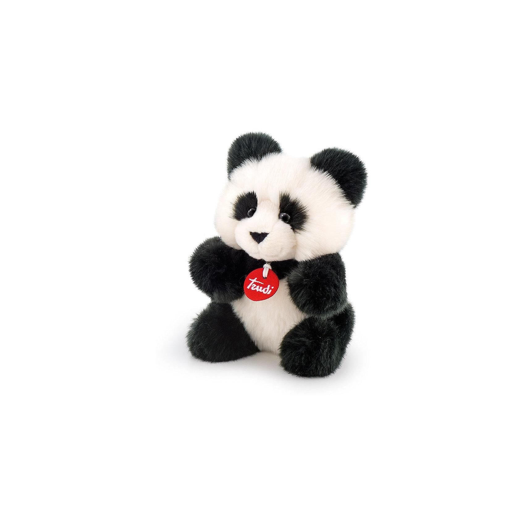 Панда-пушистик, 24 см, TrudiЗвери и птицы<br>Характеристики товара:<br><br>• возраст от 3 лет;<br>• материал: искусственный мех, пластик;<br>• высота игрушки 24 см;<br>• размер упаковки 24х10х14 см;<br>• вес упаковки 150 гр.;<br>• страна производитель Индонезия.<br><br>Панда-пушистик Trudi — милая пушистая панда с черными глазками-пуговками, большими мягкими ушками и лапками. Малыш может играть с пандой дома, брать на прогулку или в гости, брать с собой в кроватку перед сном. Игрушка выполнена из приятного на ощупь качественного материала, который безопасен для детей. <br><br>Панду-пушистик Trudi можно приобрести в нашем интернет-магазине.<br><br>Ширина мм: 100<br>Глубина мм: 140<br>Высота мм: 240<br>Вес г: 150<br>Возраст от месяцев: 36<br>Возраст до месяцев: 2147483647<br>Пол: Унисекс<br>Возраст: Детский<br>SKU: 5578420