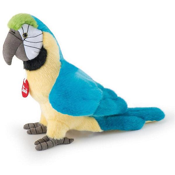 Голубой попугай Кристофоро, 32 см, TrudiМягкие игрушки животные<br>Характеристики товара:<br><br>• возраст от 3 лет;<br>• материал: плюш, пластик;<br>• высота игрушки 32 см;<br>• размер упаковки 26х21х29 см;<br>• вес упаковки 110 гр.;<br>• страна производитель Индонезия.<br><br>Голубой попугай Кристофоро Trudi — яркий попугай с черными глазками-пуговками, с голубыми крыльями и серым клювом. Малыш может играть с игрушкой дома, брать на прогулку, в детский садик, в гости, брать с собой в кроватку перед сном. Игрушка выполнена из приятного на ощупь качественного материала, который безопасен для детей. <br><br>Голубого попугая Кристофоро Trudi можно приобрести в нашем интернет-магазине.<br><br>Ширина мм: 260<br>Глубина мм: 210<br>Высота мм: 290<br>Вес г: 110<br>Возраст от месяцев: 36<br>Возраст до месяцев: 2147483647<br>Пол: Унисекс<br>Возраст: Детский<br>SKU: 5578421