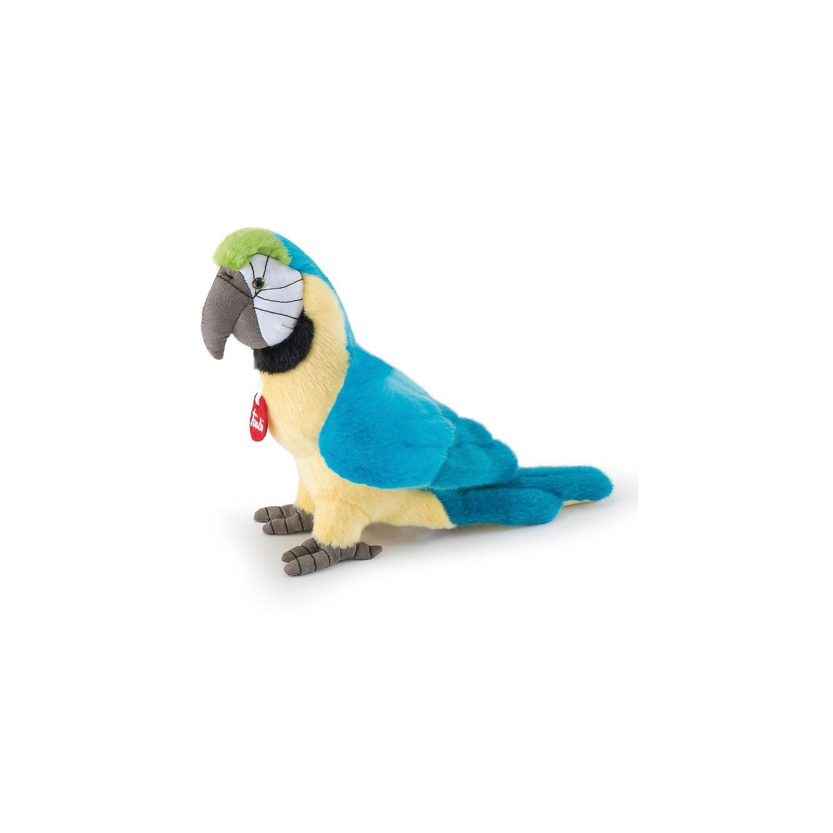 Голубой попугай Кристофоро, 32 см, TrudiЗвери и птицы<br>Характеристики товара:<br><br>• возраст от 3 лет;<br>• материал: плюш, пластик;<br>• высота игрушки 32 см;<br>• размер упаковки 26х21х29 см;<br>• вес упаковки 110 гр.;<br>• страна производитель Индонезия.<br><br>Голубой попугай Кристофоро Trudi — яркий попугай с черными глазками-пуговками, с голубыми крыльями и серым клювом. Малыш может играть с игрушкой дома, брать на прогулку, в детский садик, в гости, брать с собой в кроватку перед сном. Игрушка выполнена из приятного на ощупь качественного материала, который безопасен для детей. <br><br>Голубого попугая Кристофоро Trudi можно приобрести в нашем интернет-магазине.<br><br>Ширина мм: 260<br>Глубина мм: 210<br>Высота мм: 290<br>Вес г: 110<br>Возраст от месяцев: 36<br>Возраст до месяцев: 2147483647<br>Пол: Унисекс<br>Возраст: Детский<br>SKU: 5578421