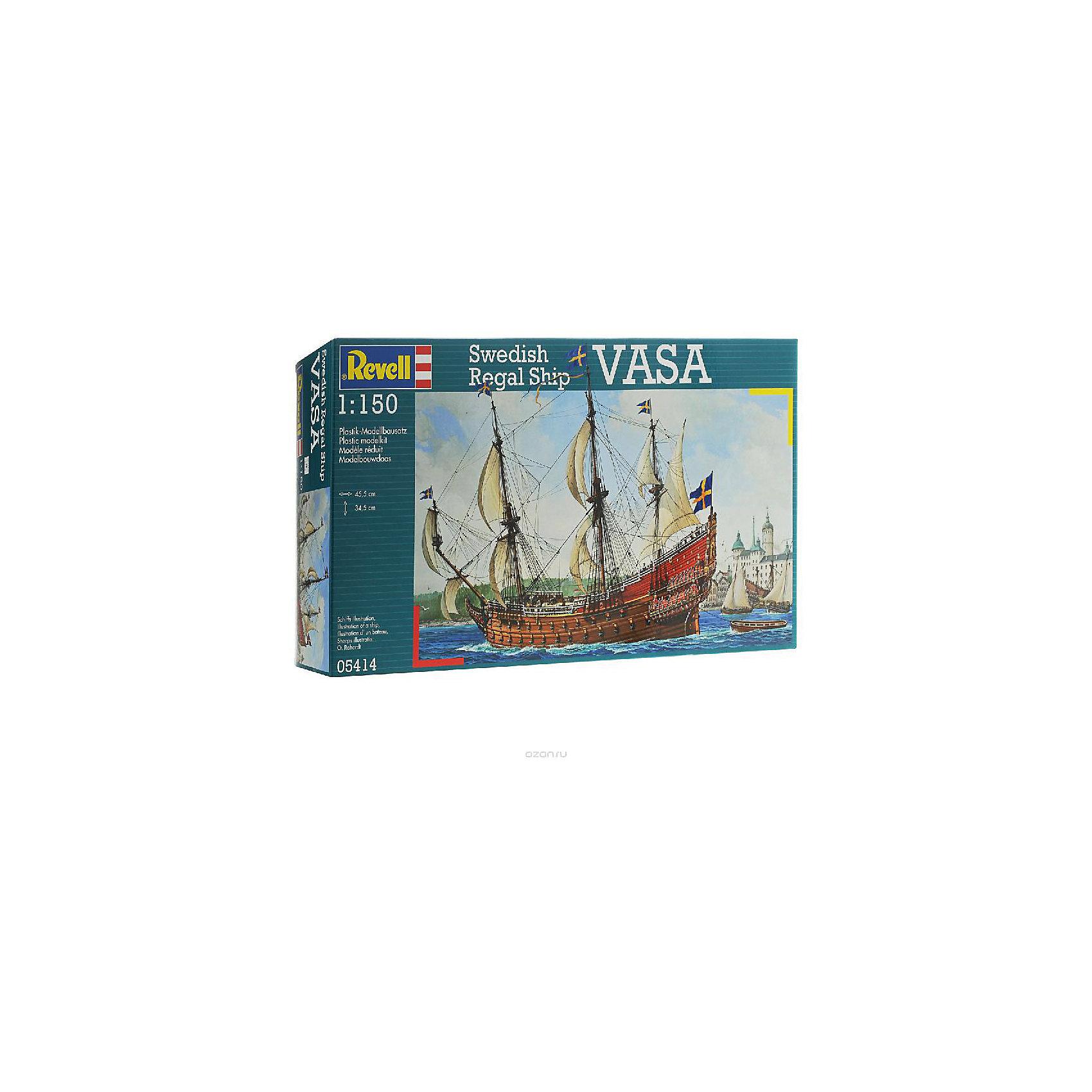 Корабль парусный ВАЗА, XVII век, шведский, RevellКорабли и лодки<br>Характеристики товара:<br><br>• возраст от 13 лет;<br>• материал: пластик;<br>• в комплекте: 330 деталей, инструкция;<br>• размер собранной модели 34,5х45,5 см;<br>• масштаб 1:150;<br>• размер упаковки 43,7х24,8х11,2 см;<br>• вес упаковки 790 гр.;<br>• страна производитель Польша.<br><br>Сборная модель «Корабль парусный ВАЗА, шведский» Revell понравится любителям кораблей и моделирования. Из 330 деталей собирается копия шведского парусного корабля ВАЗА, одного из крупнейших кораблей в ту эпоху. В процессе сборки у ребенка развивается логическое мышление, внимательность, усидчивость. Готовый корабль украсит детскую комнату.<br><br>Корабль парусный ВАЗА шведски Revell можно приобрести в нашем интернет-магазине.<br><br>Ширина мм: 437<br>Глубина мм: 248<br>Высота мм: 112<br>Вес г: 790<br>Возраст от месяцев: 156<br>Возраст до месяцев: 2147483647<br>Пол: Мужской<br>Возраст: Детский<br>SKU: 5578425