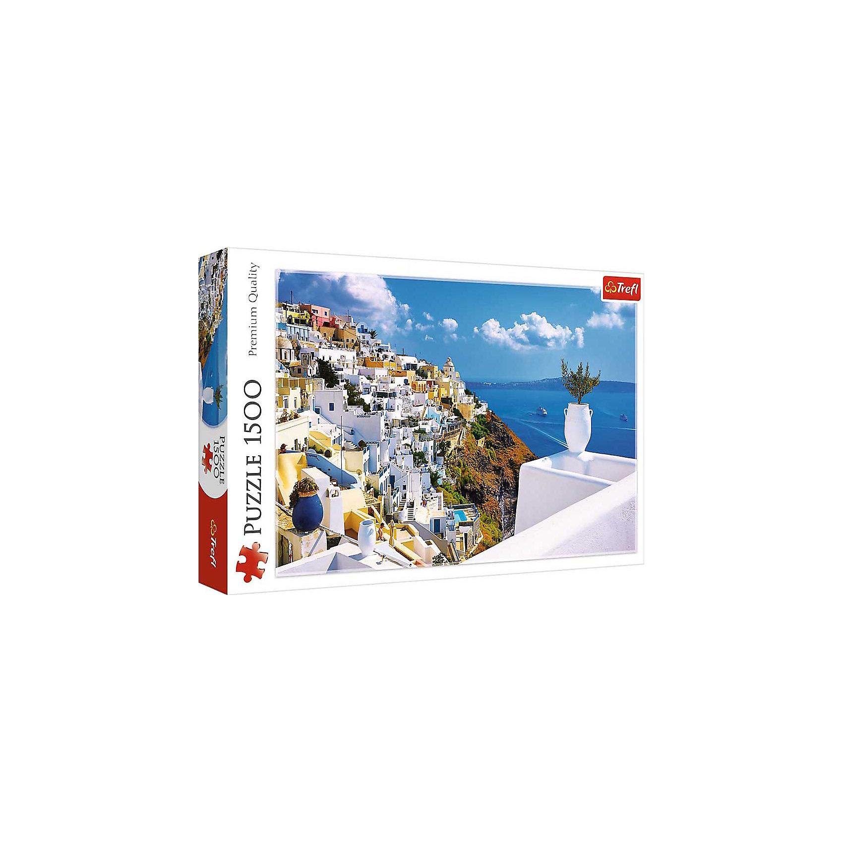 Пазл Санторини. Греция, 1500 деталей, TreflКлассические пазлы<br>Характеристики товара:<br><br>• возраст от 12 лет;<br>• материал: картон;<br>• в наборе: 1500 элементов;<br>• размер пазла 85х58 см;<br>• размер упаковки 27х40х6 см;<br>• вес упаковки 980 гр.;<br>• страна производитель Польша.<br><br>Пазл «Санторини. Греция» Trefl — пазл из 1500 деталей с красивыми видами острова Санторини обязательно понравится всем любителям собирать пазлы. С балкона открываются невероятные виды на море, белоснежные дома и скалистый берег. Собирая пазл, у детей развиваются внимательность, усидчивость, аккуратность, логическое мышление. Пазл изготовлен из качественных материалов со специальным стойким покрытием.<br><br>Пазл «Санторини. Греция» Trefl можно приобрести в нашем интернет-магазине.<br><br>Ширина мм: 270<br>Глубина мм: 401<br>Высота мм: 60<br>Вес г: 980<br>Возраст от месяцев: 144<br>Возраст до месяцев: 2147483647<br>Пол: Унисекс<br>Возраст: Детский<br>SKU: 5578448