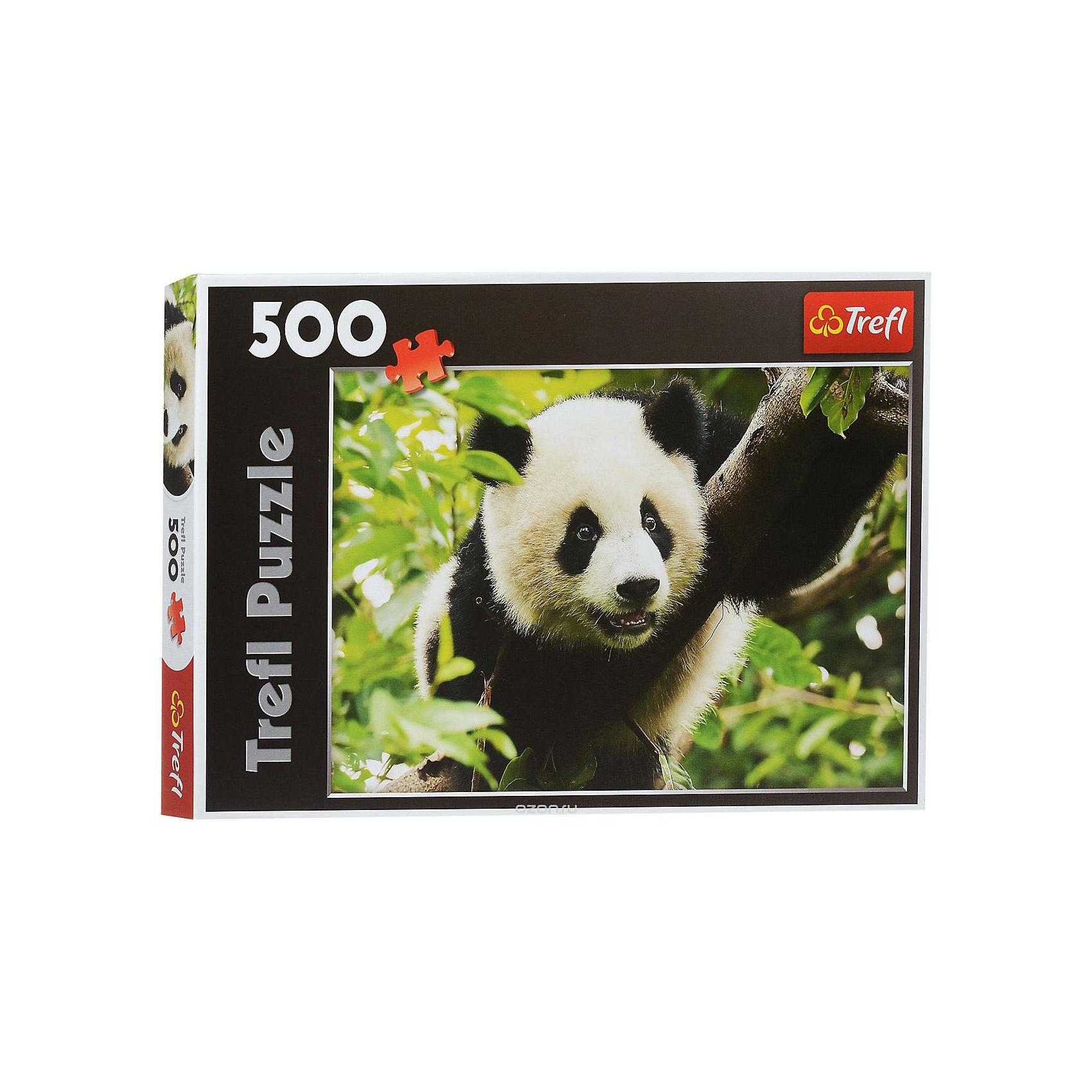 Пазл Панда, 500 деталей, TreflПазлы для детей постарше<br>Характеристики товара:<br><br>• возраст от 10 лет;<br>• материал: картон;<br>• в наборе: 500 элементов;<br>• размер пазла 48х34 см;<br>• размер упаковки 26,6х39,8х4,5 см;<br>• вес упаковки 500 гр.;<br>• страна производитель Польша.<br><br>Пазл «Панда» Trefl - пазл с изображением милой панды обязательно понравится всем любителям собирать пазлы. Собирая пазл, у детей развиваются внимательность, усидчивость, аккуратность. Пазл изготовлен из качественных материалов со специальным стойким покрытием, которое не теряет со временем цвет.<br><br>Пазл «Панда» Trefl можно приобрести в нашем интернет-магазине.<br><br>Ширина мм: 266<br>Глубина мм: 398<br>Высота мм: 45<br>Вес г: 500<br>Возраст от месяцев: 120<br>Возраст до месяцев: 2147483647<br>Пол: Унисекс<br>Возраст: Детский<br>SKU: 5578450