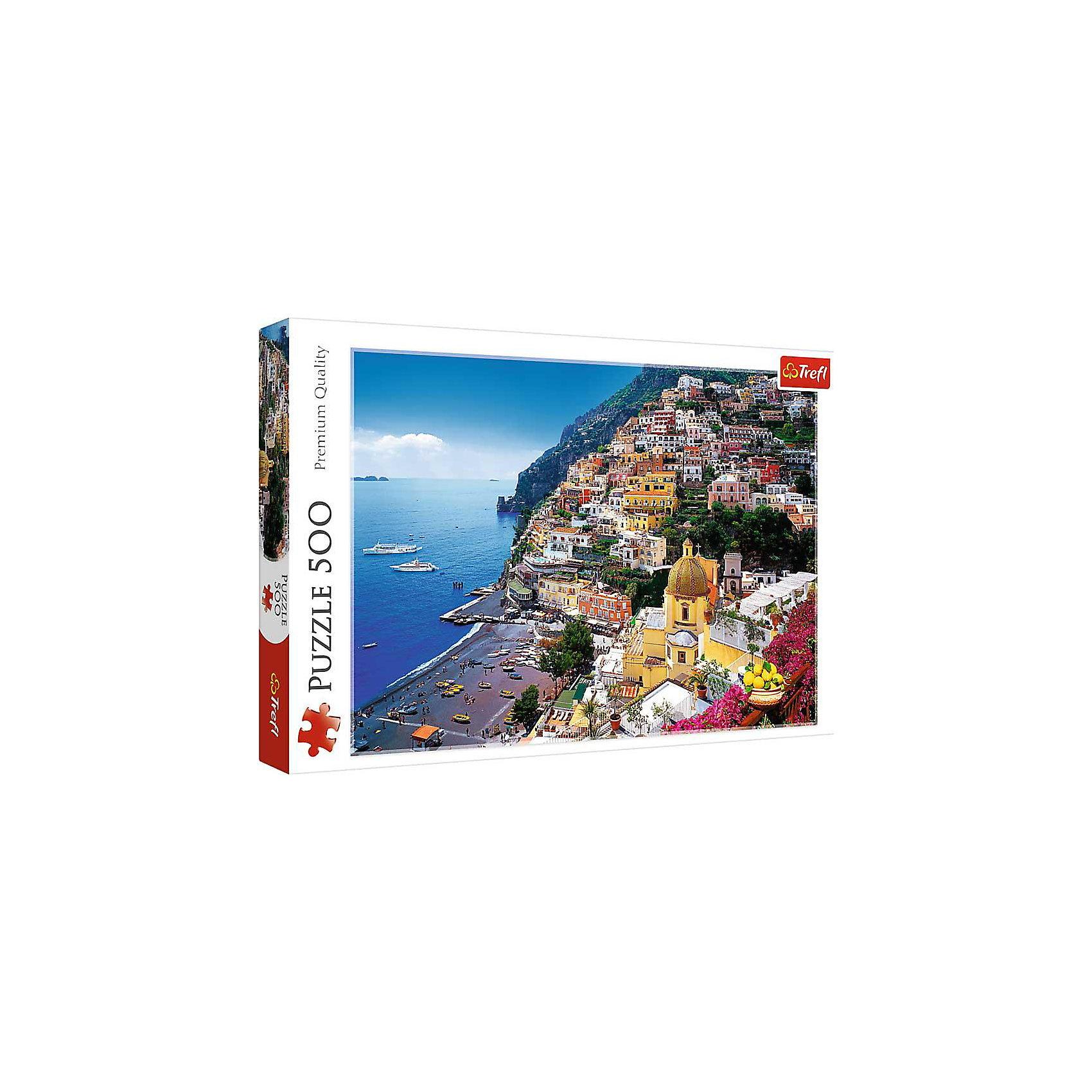 Пазл «Позитано. Италия», 500 деталей, TreflКлассические пазлы<br>Характеристики товара:<br><br>• возраст от 10 лет;<br>• материал: картон;<br>• в наборе: 500 элементов;<br>• размер пазла 48х34 см;<br>• размер упаковки 26,6х39,8х4,5 см;<br>• вес упаковки 500 гр.;<br>• страна производитель Польша.<br><br>Пазл «Позитано. Италия» Trefl — пазл с красивыми видами города Позитано обязательно понравится всем любителям собирать пазлы. На пазле изображены завораживающие виды на море, солнечный пляж и уютные красивые домики. Собирая пазл, у детей развиваются внимательность, усидчивость, аккуратность. Пазл изготовлен из качественных материалов со специальным стойким покрытием.<br><br>Пазл «Позитано. Италия» Trefl можно приобрести в нашем интернет-магазине.<br><br>Ширина мм: 266<br>Глубина мм: 398<br>Высота мм: 45<br>Вес г: 500<br>Возраст от месяцев: 120<br>Возраст до месяцев: 2147483647<br>Пол: Унисекс<br>Возраст: Детский<br>SKU: 5578451