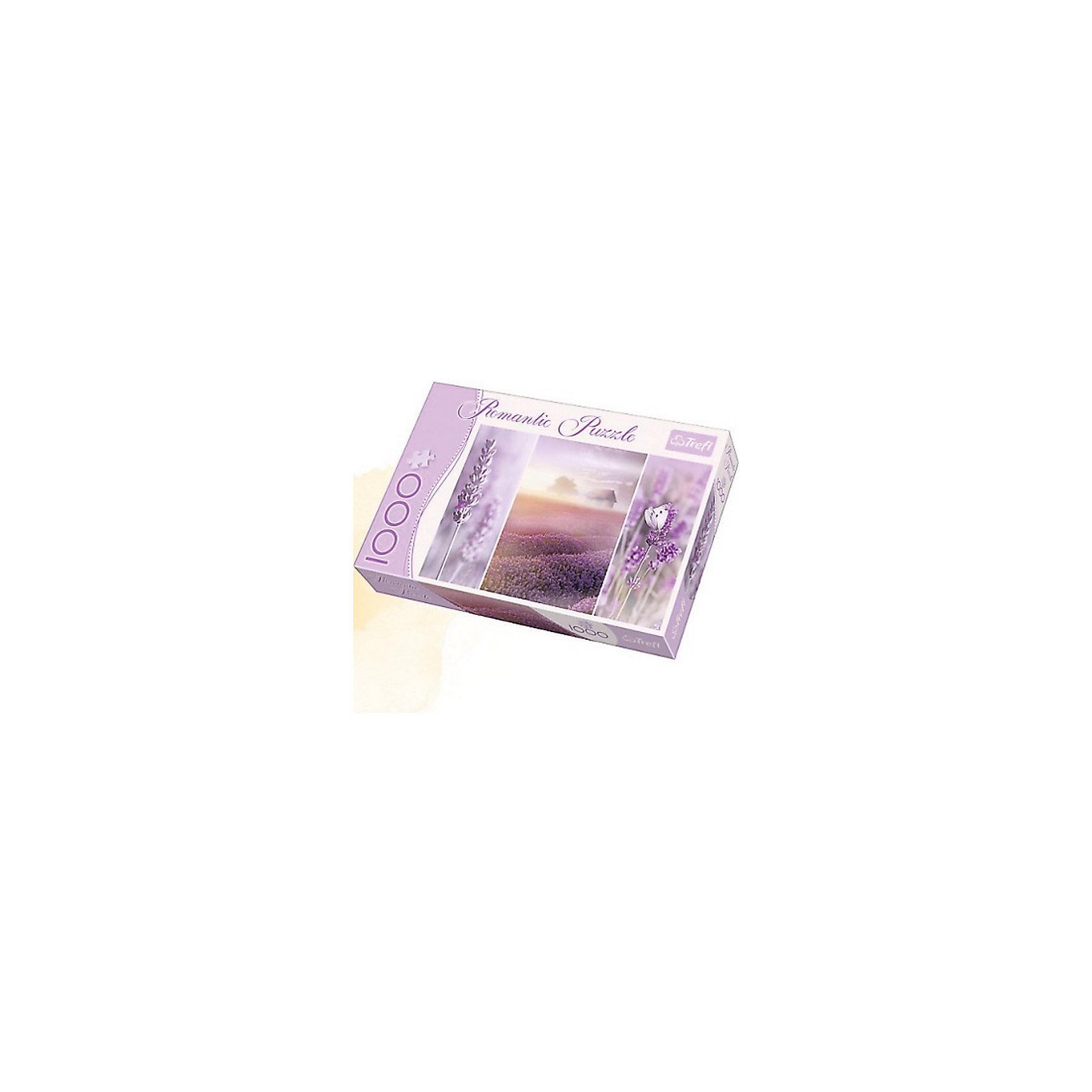 Пазл Лавандовые поля, 1000 деталей, TreflКлассические пазлы<br>Характеристики товара:<br><br>• возраст от 12 лет;<br>• материал: картон;<br>• в наборе: 1000 элементов;<br>• размер пазла 68х48 см;<br>• размер упаковки 27х40х6 см;<br>• вес упаковки 750 гр.;<br>• страна производитель Польша.<br><br>Пазл «Лавандовые поля» Trefl — пазл из 1000 деталей, состоящий сразу из трех ярких картинок с изображениями невероятного цвета лавандовых полей. Собирая пазл, у детей развиваются внимательность, усидчивость, аккуратность. Пазл изготовлен из качественных экологически чистых материалов. <br><br>Пазл «Лавандовые поля» Trefl можно приобрести в нашем интернет-магазине.<br><br>Ширина мм: 400<br>Глубина мм: 60<br>Высота мм: 270<br>Вес г: 750<br>Возраст от месяцев: 144<br>Возраст до месяцев: 2147483647<br>Пол: Унисекс<br>Возраст: Детский<br>SKU: 5578466