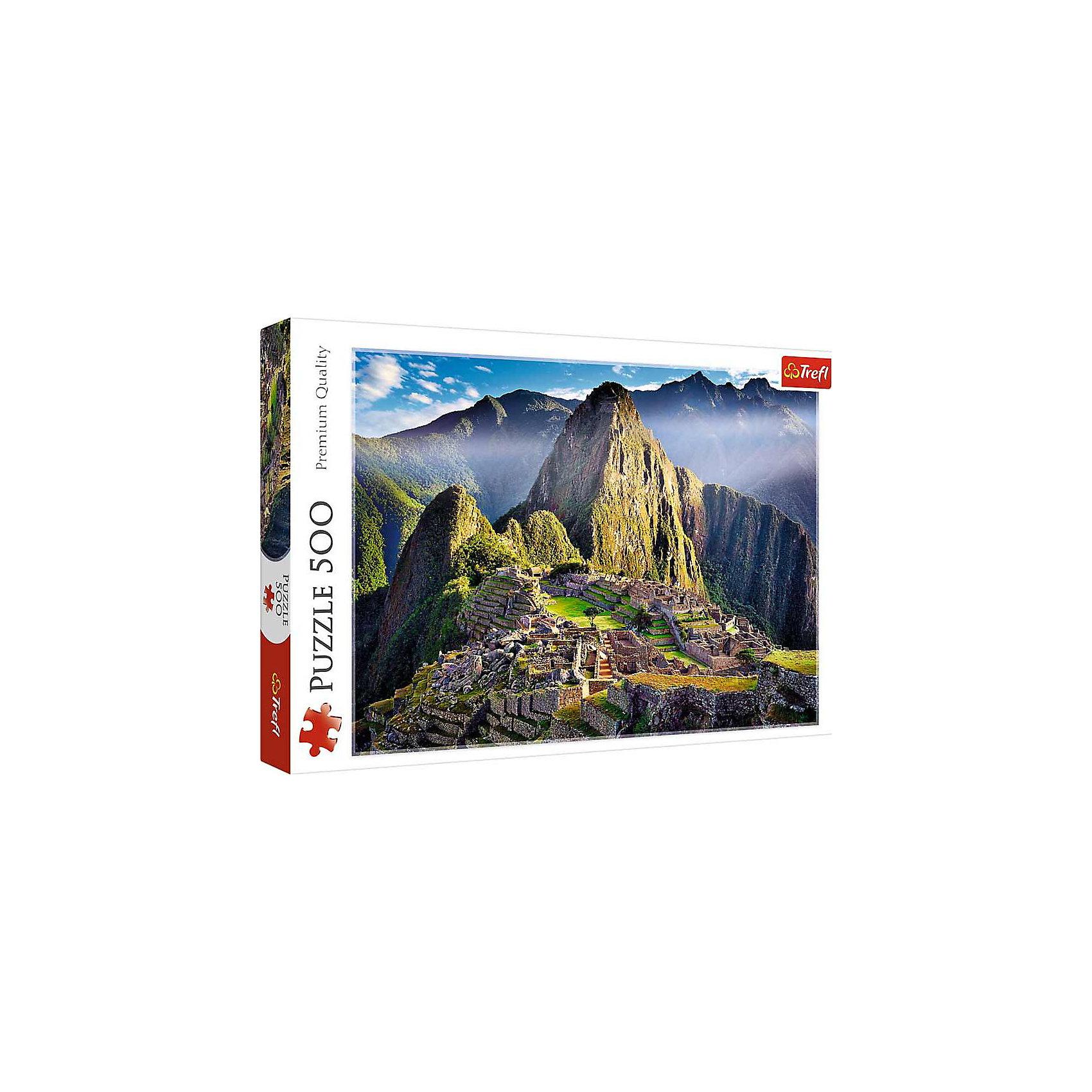 Пазл «Старинное святилище Мачу-Пикчу», 500 деталей, TreflКлассические пазлы<br>Характеристики товара:<br><br>• возраст от 10 лет;<br>• материал: картон;<br>• в наборе: 500 элементов;<br>• размер пазла 48х34 см;<br>• размер упаковки 40х27х4,5 см;<br>• вес упаковки 500 гр.;<br>• страна производитель Польша.<br><br>Пазл «Старинное святилище Мачу-Пикчу» Trefl изображает древний город инков, скрытый между высокими скалами. Собирание пазла — увлекательное занятие, которое развивает логическое мышление, внимательность к деталям, усидчивость. Элементы изготовлены из качественного каландрированного картона с антибликовым покрытием.<br><br>Пазл «Старинное святилище Мачу-Пикчу» Trefl можно приобрести в нашем интернет-магазине.<br><br>Ширина мм: 410<br>Глубина мм: 378<br>Высота мм: 266<br>Вес г: 500<br>Возраст от месяцев: 120<br>Возраст до месяцев: 2147483647<br>Пол: Унисекс<br>Возраст: Детский<br>SKU: 5578473