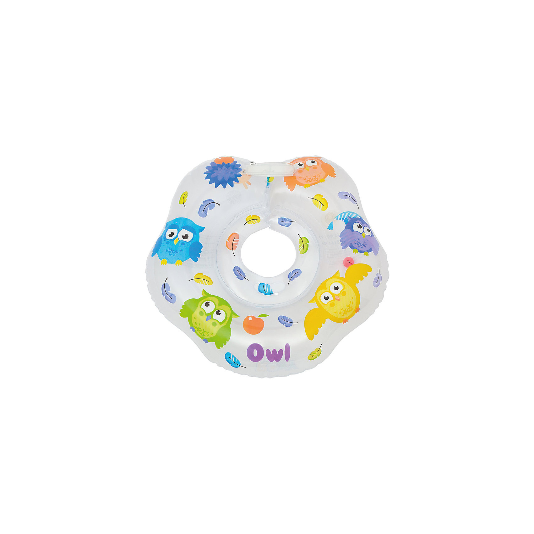Круг на шею для купания Owl, Roxy-KidsКруги для купания малыша<br>Круг на шею для купания Owl, Roxy-Kids.<br><br>Характеристики:<br><br>• Для детей в возрасте: от 0 до 18 месяцев<br>• Максимальная нагрузка: 18 кг.<br>• Размер: 42 х 39 см.<br>• Материал: ПВХ<br>• Размер упаковки: 15 х 15 х 0,5 см.<br>• Вес: 0,2 кг.<br><br>Круг на шею для купания Owl, Roxy-Kids предназначен для самых юных купальщиков. Он выполнен из безопасного гипоаллергенного материала, окрашен специальными красителями, которые не смываются водой и долгое время сохраняют свою яркость. Круг состоит из одинарной воздушной камеры, внутри которой находится шарик-погремушка. Удобная выемка для подбородка препятствует попаданию воды в рот малыша, внутренний диаметр круга регулируется надежной застежкой на липучках и карабином. Круг учитывает характерные физиологические особенности маленьких купальщиков. Гладкий внутренний шов круга не сдавливает и не царапает шею малыша, плотно прилегает к ней, не допуская травмирование хрупких шейных позвонков новорожденных. Круг Owl, Roxy-Kids рассчитан на регулярное использование малышам весом до 18 кг. Осваивать водные просторы с кругом для купания Owl, Roxy-Kids — интересно, весело и безопасно! Родители тоже оценят преимущества круга, теперь им не придется держать малыша в воде на руках все время!<br><br>Круг на шею для купания Owl, Roxy-Kids можно купить в нашем интернет-магазине.<br><br>Ширина мм: 150<br>Глубина мм: 5<br>Высота мм: 150<br>Вес г: 200<br>Возраст от месяцев: 0<br>Возраст до месяцев: 18<br>Пол: Унисекс<br>Возраст: Детский<br>SKU: 5578869