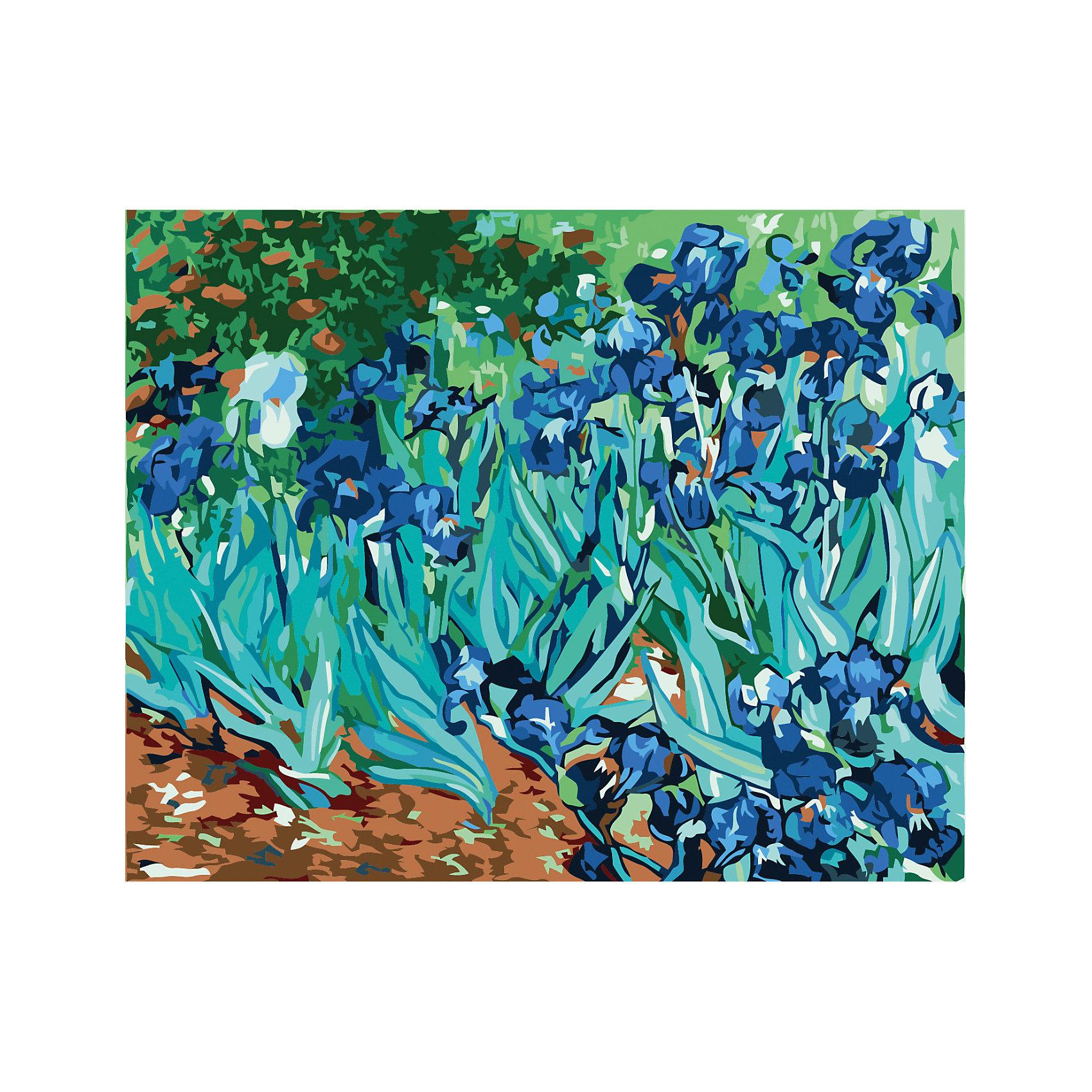 Роспись по номерам Ирисы Ван Гог (синие цветы), 40*50 см<br><br>Ширина мм: 420<br>Глубина мм: 520<br>Высота мм: 25<br>Вес г: 500<br>Возраст от месяцев: 36<br>Возраст до месяцев: 2147483647<br>Пол: Унисекс<br>Возраст: Детский<br>SKU: 5579744