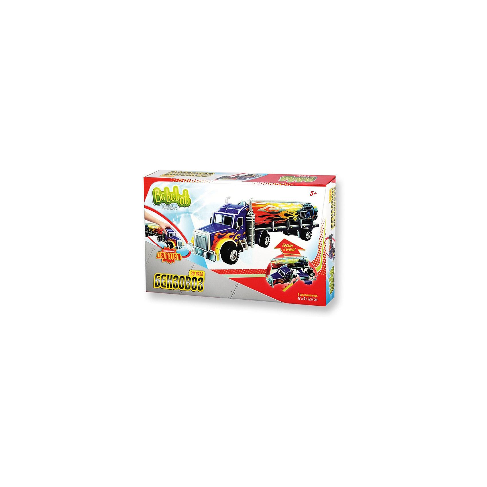 3D пазл Basic Бензовоз большой, Bebelot3D пазлы<br>Характеристики товара:<br><br>• возраст от 3 лет;<br>• материал: пластик, картон, металл;<br>• в наборе: 4 листа пенокартона, 6 колес, 3 оси, двигатель, инструкция;<br>• размер машины 42х12,5х9 см;<br>• размер упаковки 33х22х5 см;<br>• вес упаковки 335 гр.;<br>• страна производитель: Китай.<br><br>3D пазл Basic «Бензовоз большой» Bebelot позволит создать объемную модель бензовоза. Машина работает от инерционного двигателя и ездит по поверхности. Сборка пазла развивает у детей мышление, усидчивость, внимательность.<br><br>3D пазл Basic «Бензовоз большой» Bebelot можно приобрести в нашем интернет-магазине.<br><br>Ширина мм: 330<br>Глубина мм: 220<br>Высота мм: 50<br>Вес г: 335<br>Возраст от месяцев: 36<br>Возраст до месяцев: 72<br>Пол: Мужской<br>Возраст: Детский<br>SKU: 5581217
