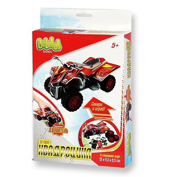3D пазл Basic Квадроцикл маленький, Bebelot3D пазлы<br>Характеристики товара:<br><br>• возраст от 3 лет;<br>• материал: пластик, картон, металл;<br>• в наборе: 4 листа пенокартона, 4 колеса, 2 оси, двигатель, инструкция;<br>• размер машины 15х9,5х8,5 см;<br>• размер упаковки 25х15х3 см;<br>• вес упаковки 160 гр.;<br>• страна производитель: Китай.<br><br>3D пазл Basic «Квадроцикл маленький» Bebelot позволит создать объемную модель квадроцикла. Игрушка работает от инерционного двигателя, может ездить по поверхности. С ней можно играть, как с обычной машинкой и устраивать захватывающие заезды. Сборка пазла развивает у детей мышление, усидчивость, внимательность.<br><br>3D пазл Basic «Квадроцикл маленький» Bebelot можно приобрести в нашем интернет-магазине.<br><br>Ширина мм: 150<br>Глубина мм: 250<br>Высота мм: 30<br>Вес г: 165<br>Возраст от месяцев: 36<br>Возраст до месяцев: 72<br>Пол: Мужской<br>Возраст: Детский<br>SKU: 5581222
