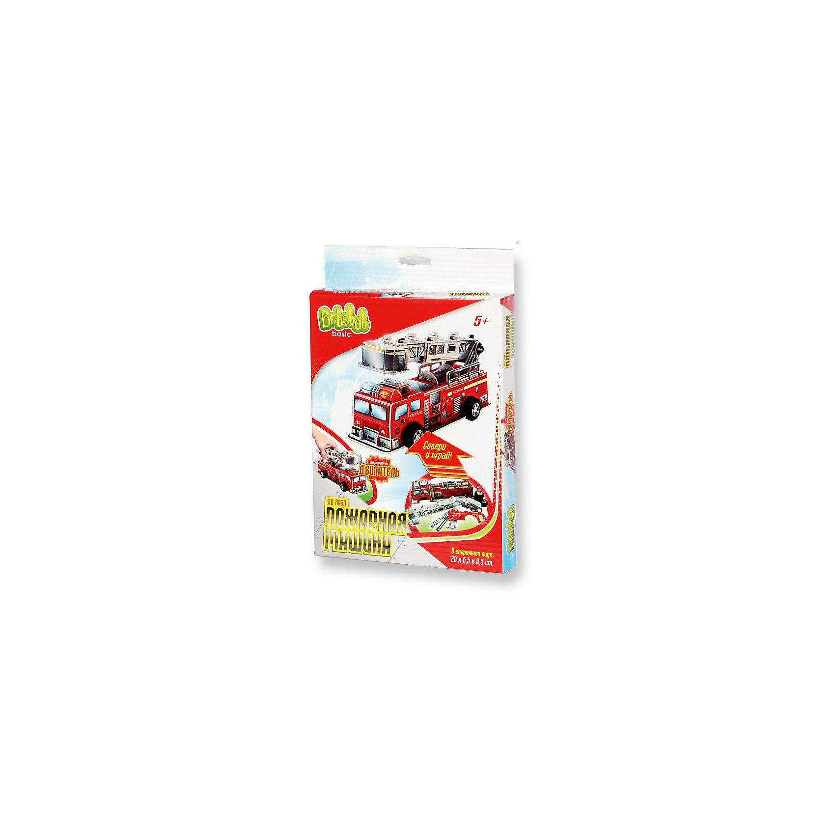 3D пазл Basic Пожарная машина маленькая, Bebelot3D пазлы<br>Характеристики товара:<br><br>• возраст от 3 лет;<br>• материал: пластик, картон, металл;<br>• в наборе: 4 листа пенокартона, 4 колеса, 2 оси, двигатель, инструкция;<br>• размер машины 20х8,5х6,5 см;<br>• размер упаковки 25х15х3 см;<br>• вес упаковки 165 гр.;<br>• страна производитель: Китай.<br><br>3D пазл Basic «Пожарная машина маленькая» Bebelot позволит создать объемную модель пожарной машины. Машина работает от инерционного двигателя и ездит по поверхности. С ней можно придумывать сюжеты для игры, приезжая вовремя на тушение пожаров и спасая людей. Сборка пазла развивает у детей мышление, усидчивость, внимательность.<br><br>3D пазл Basic «Пожарная машина маленькая» Bebelot можно приобрести в нашем интернет-магазине.<br><br>Ширина мм: 150<br>Глубина мм: 250<br>Высота мм: 30<br>Вес г: 155<br>Возраст от месяцев: 36<br>Возраст до месяцев: 72<br>Пол: Мужской<br>Возраст: Детский<br>SKU: 5581223