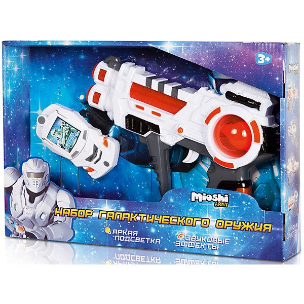 Игровой набор Освободитель, Mioshi ArmyИгрушечные пистолеты и бластеры<br>Характеристики товара:<br><br>• возраст от 3 лет;<br>• материал: пластик;<br>• в комплекте: бластер, передатчик;<br>• работает от 3 батареек АА (в комплект не входят);<br>• размер упаковки 33х22х5,5 см;<br>• вес упаковки 229 гр.;<br>• страна производитель: Китай.<br><br>Игровой набор «Освободитель» Mioshi Army позволит мальчишкам отправится в космические приключения для освобождения Вселенной от захватчиков. Бластер оснащен световыми и звуковыми эффектами, которые делают игру еще увлекательней. <br><br>Игровой набор «Освободитель» Mioshi Army можно приобрести в нашем интернет-магазине.<br><br>Ширина мм: 330<br>Глубина мм: 220<br>Высота мм: 55<br>Вес г: 229<br>Возраст от месяцев: 36<br>Возраст до месяцев: 72<br>Пол: Мужской<br>Возраст: Детский<br>SKU: 5581234