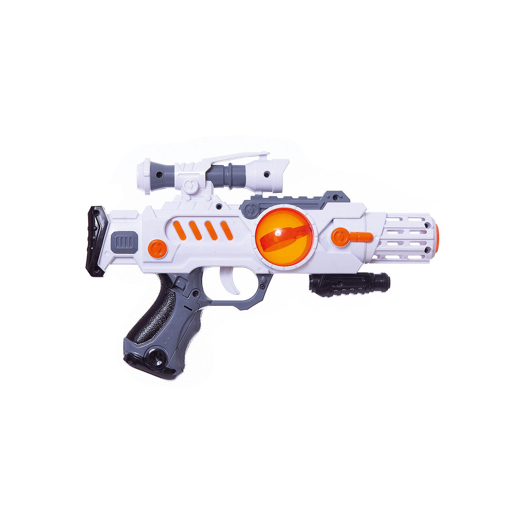 Бластер Звёздный воин, Mioshi ArmyБластеры, пистолеты и прочее<br>Характеристики товара:<br><br>• возраст от 3 лет;<br>• материал: пластик;<br>• в комплекте: бластер;<br>• работает от 3 батареек АА (в комплект не входят);<br>• размер упаковки 35,5х23х6 см;<br>• вес упаковки 292 гр.;<br>• страна производитель: Китай.<br><br>Бластер «Звездный воин» Mioshi Army позволит мальчишкам устроить импровизированные космические сражения. Во время игры бластер светится и издает звуки выстрелов, что делает игру еще увлекательней. Игрушка изготовлена из качественных прочных материалов, безопасных для детей.<br><br>Бластер «Звездный воин» Mioshi Army можно приобрести в нашем интернет-магазине.<br><br>Ширина мм: 355<br>Глубина мм: 230<br>Высота мм: 60<br>Вес г: 292<br>Возраст от месяцев: 36<br>Возраст до месяцев: 72<br>Пол: Мужской<br>Возраст: Детский<br>SKU: 5581235