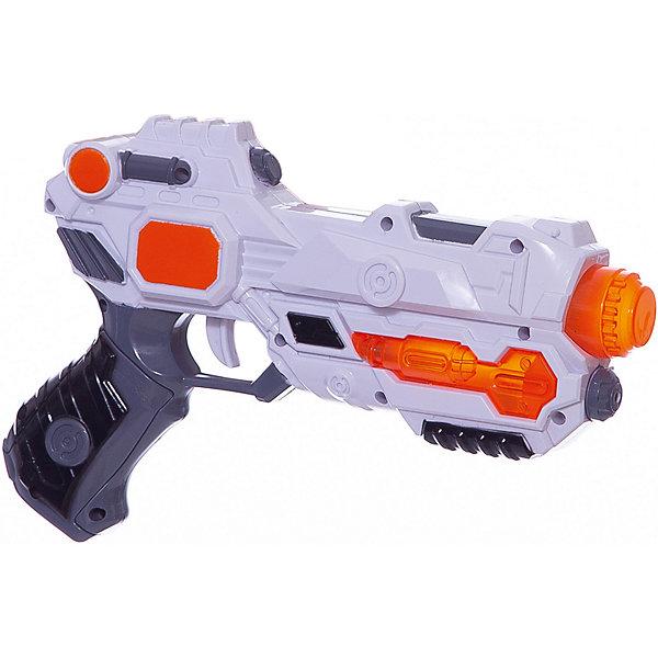 Бластер Звёздный пистолет, Mioshi ArmyИгрушечные пистолеты и бластеры<br>Характеристики товара:<br><br>• возраст от 3 лет;<br>• материал: пластик;<br>• в комплекте: бластер;<br>• работает от 2 батареек АА (в комплект не входят);<br>• размер упаковки 32,3х22х5,5 см;<br>• вес упаковки 258 гр.;<br>• страна производитель: Китай.<br><br>Бластер «Звездный пистолет» Mioshi Army позволит мальчишкам устроить импровизированные космические сражения. Во время игры бластер светится и издает звуки выстрелов, что делает игру еще увлекательней. Игрушка изготовлена из качественных прочных материалов, безопасных для детей.<br><br>Бластер «Звездный пистолет» Mioshi Army можно приобрести в нашем интернет-магазине.<br><br>Ширина мм: 323<br>Глубина мм: 220<br>Высота мм: 55<br>Вес г: 258<br>Возраст от месяцев: 36<br>Возраст до месяцев: 72<br>Пол: Мужской<br>Возраст: Детский<br>SKU: 5581236