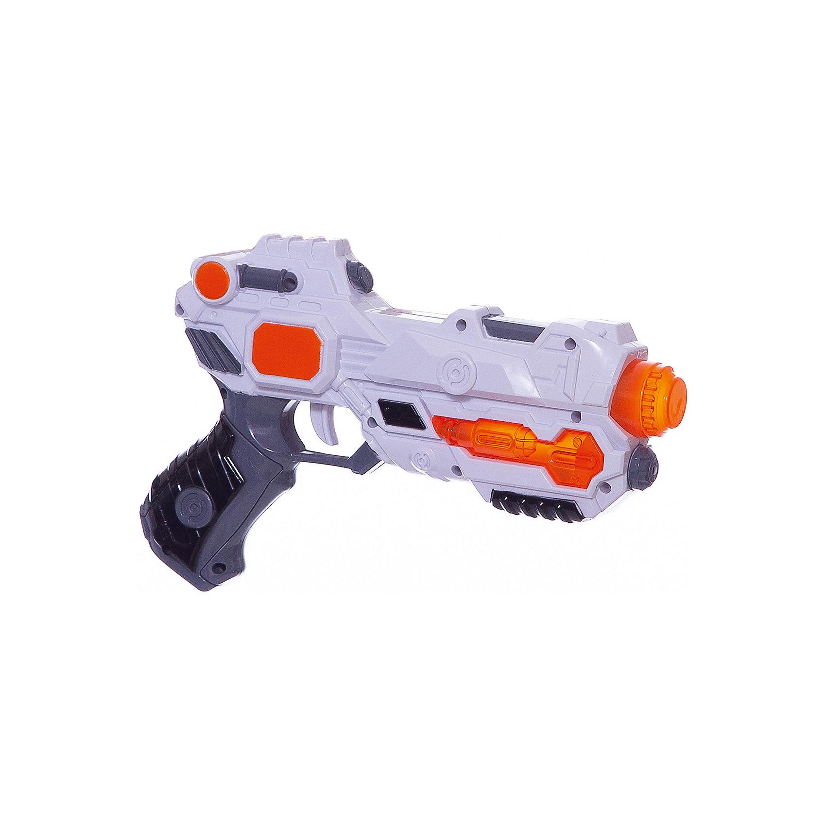 Бластер Звёздный пистолет, Mioshi ArmyБластеры, пистолеты и прочее<br>Характеристики товара:<br><br>• возраст от 3 лет;<br>• материал: пластик;<br>• в комплекте: бластер;<br>• работает от 2 батареек АА (в комплект не входят);<br>• размер упаковки 32,3х22х5,5 см;<br>• вес упаковки 258 гр.;<br>• страна производитель: Китай.<br><br>Бластер «Звездный пистолет» Mioshi Army позволит мальчишкам устроить импровизированные космические сражения. Во время игры бластер светится и издает звуки выстрелов, что делает игру еще увлекательней. Игрушка изготовлена из качественных прочных материалов, безопасных для детей.<br><br>Бластер «Звездный пистолет» Mioshi Army можно приобрести в нашем интернет-магазине.<br><br>Ширина мм: 323<br>Глубина мм: 220<br>Высота мм: 55<br>Вес г: 258<br>Возраст от месяцев: 36<br>Возраст до месяцев: 72<br>Пол: Мужской<br>Возраст: Детский<br>SKU: 5581236