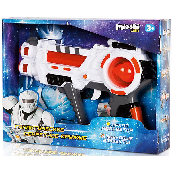 Бластер Секретное оружие, Mioshi ArmyИгрушечные пистолеты и бластеры<br>Характеристики товара:<br><br>• возраст от 3 лет;<br>• материал: пластик;<br>• в комплекте: бластер;<br>• работает от 2 батареек АА (в комплект не входят);<br>• размер упаковки 29х21х6 см;<br>• вес упаковки 201 гр.;<br>• страна производитель: Китай.<br><br>Бластер «Секретное оружие» Mioshi Army позволит мальчишкам устроить импровизированные космические сражения. Во время игры бластер светится и издает звуки выстрелов, что делает игру еще увлекательней. Игрушка изготовлена из качественных прочных материалов, безопасных для детей.<br><br>Бластер «Секретное оружие» Mioshi Army можно приобрести в нашем интернет-магазине.<br><br>Ширина мм: 290<br>Глубина мм: 210<br>Высота мм: 60<br>Вес г: 201<br>Возраст от месяцев: 36<br>Возраст до месяцев: 72<br>Пол: Мужской<br>Возраст: Детский<br>SKU: 5581240