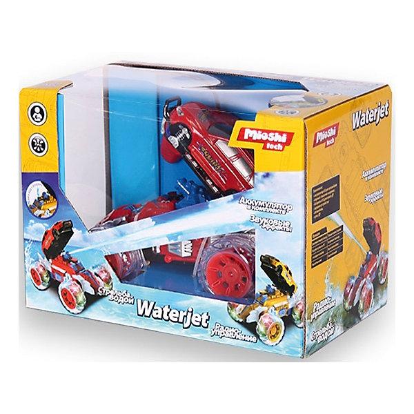 АвтомобильWaterjet на р/у, красный, Mioshi TechРадиоуправляемые машины<br>Характеристики товара:<br><br>• возраст от 6 лет;<br>• материал: пластик;<br>• в комплекте: машина, пульт управления, мерный стаканчик, воронка, зарядное устройство, аккумулятор для автомобиля, батарейка для пульта;<br>• размер упаковки 33х24х20 см;<br>• вес упаковки 1,2 кг;<br>• страна производитель: Китай.<br><br>Автомобиль «Waterjet» Mioshi Tech красный — оригинальная машина-трансформер на радиоуправлении. Кузов машины откидывается, и она начинает стрелять водой в противников. Во время езды у машины светятся колеса, а также слышны звуки мотора. Включив одну из 3 музыкальных композиций, игра становится еще увлекательней и интересней. С такой игрушкой можно устроить невероятные захватывающие игры и гонки. Игрушка изготовлена из качественных безопасных материалов.<br><br>Автомобиль «Waterjet» Mioshi Tech красный можно приобрести в нашем интернет-магазине.<br><br>Ширина мм: 330<br>Глубина мм: 240<br>Высота мм: 200<br>Вес г: 1200<br>Возраст от месяцев: 72<br>Возраст до месяцев: 2147483647<br>Пол: Мужской<br>Возраст: Детский<br>SKU: 5581243
