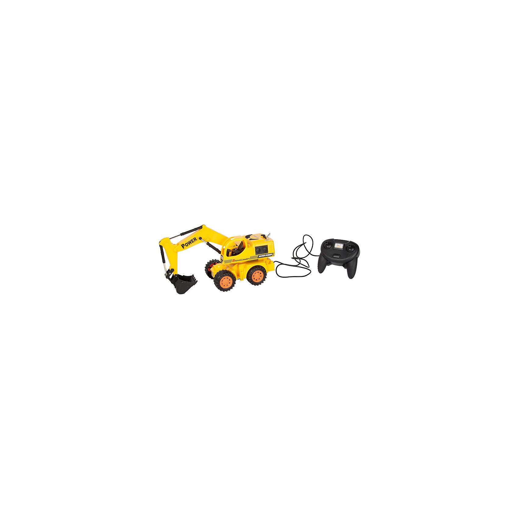 Экскаватор колёсный, проводное управление, Mioshi TechИдеи подарков<br>Характеристики товара:<br><br>• возраст от 6 лет;<br>• материал: пластик;<br>• в комплекте: экскаватор, проводной пульт;<br>• пульт работает от 3 батареек АА (в комплект не входят);<br>• длина игрушки 29,6 см;<br>• длина провода 1,5 метра;<br>• размер упаковки 33х14х19,5 см;<br>• вес упаковки 655 гр.;<br>• страна производитель: Китай.<br><br>Экскаватор колесный Mioshi Tech используется на строительных площадках. Игрушка управляется проводным пультом. Машина может ездить в разных направлениях. Ковш поднимается и опускается, изображая строительные работы. Во время движения работают световые эффекты. Игрушка изготовлена из качественного безопасного пластика.<br><br>Экскаватор колесный Mioshi Tech проводное управление можно приобрести в нашем интернет-магазине.<br><br>Ширина мм: 330<br>Глубина мм: 140<br>Высота мм: 195<br>Вес г: 655<br>Возраст от месяцев: 72<br>Возраст до месяцев: 2147483647<br>Пол: Мужской<br>Возраст: Детский<br>SKU: 5581262