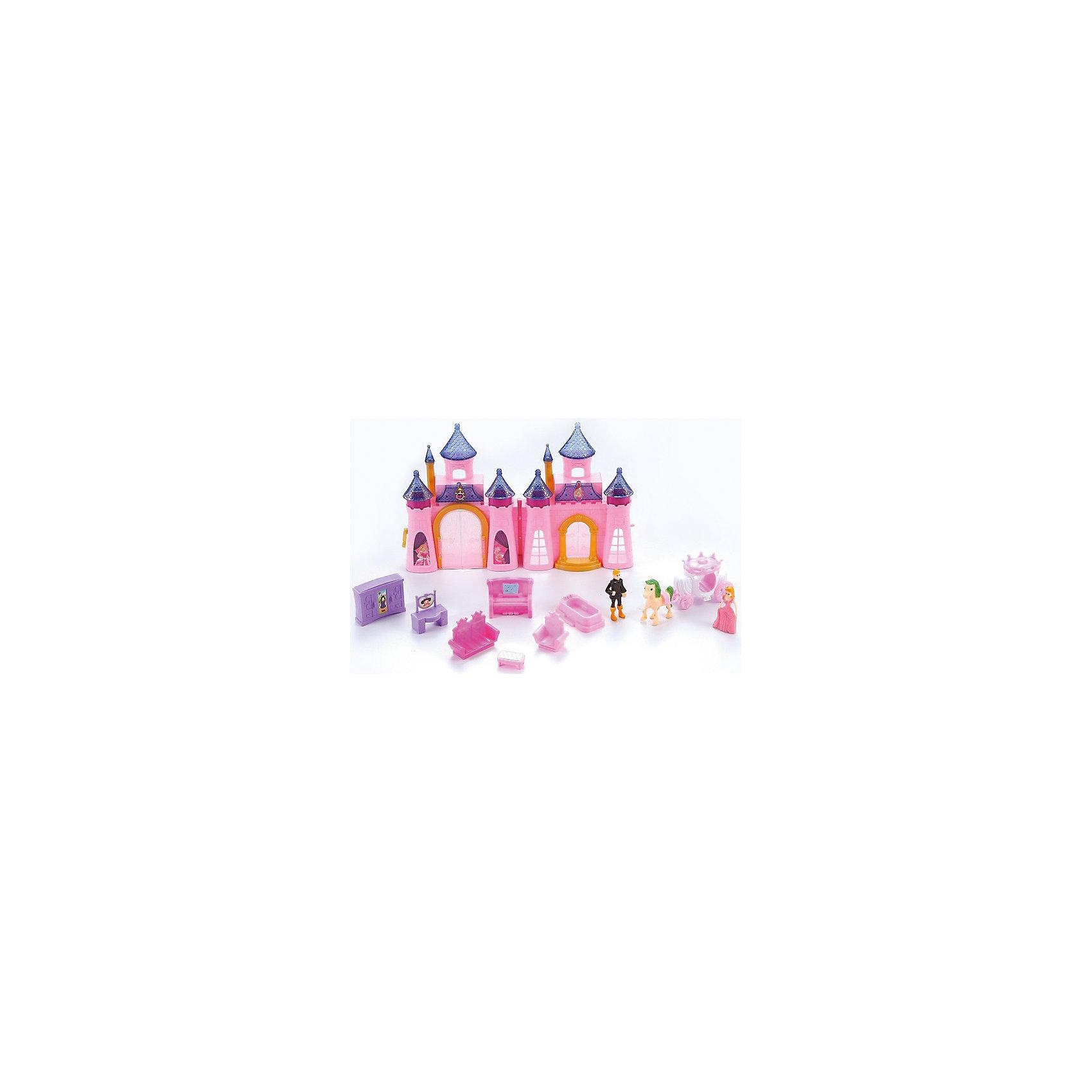 Замок для куклы  Dolly Toy Королевский дворец, DollyToyИдеи подарков<br>Характеристики товара:<br><br>• возраст от 3 лет;<br>• материал: пластик;<br>• в комплекте: складной замок, 2 куклы, карета с лошадкой, аксессуары;<br>• размер упаковки 52х36х6,5 см;<br>• вес упаковки 1 кг;<br>• страна производитель: Китай.<br><br>Замок для куклы «Королевский дворец» DollyToy обязательно понравится девочке. С таким набором можно придумывать разнообразные сюжеты и истории для игр, проявляя фантазию. Куколка побудет принцессой, которая живет в сказочном замке. У нее есть своя королевская карета. Световые и звуковые эффекты сделают игру еще более сказочной и увлекательной.<br><br>Замок для куклы «Королевский дворец» DollyToy можно приобрести в нашем интернет-магазине.<br><br>Ширина мм: 520<br>Глубина мм: 360<br>Высота мм: 65<br>Вес г: 1000<br>Возраст от месяцев: 36<br>Возраст до месяцев: 72<br>Пол: Женский<br>Возраст: Детский<br>SKU: 5581268