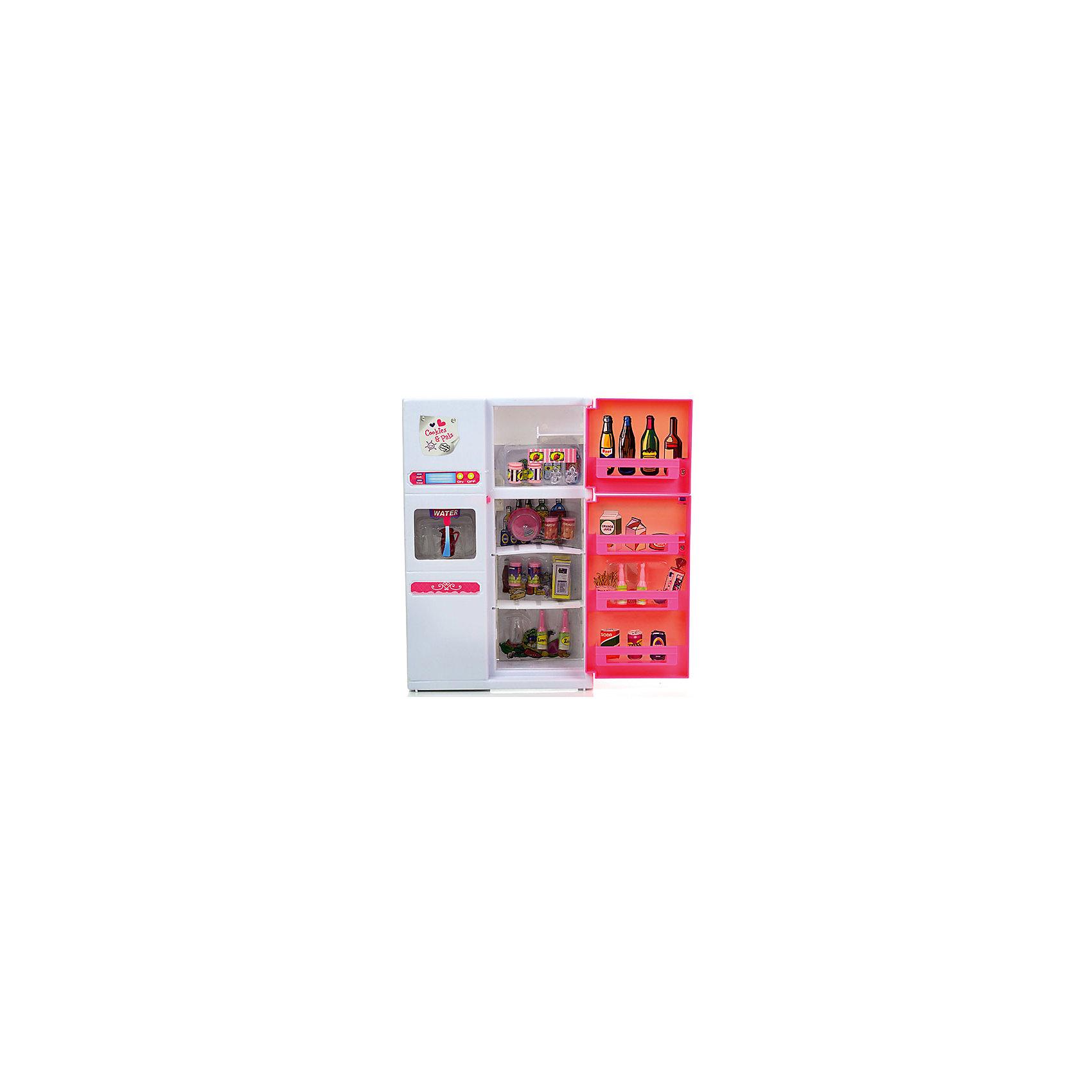 Набор мебели для кукол Холодильник, DollyToyКукольная одежда и аксессуары<br>Характеристики товара:<br><br>• возраст от 3 лет;<br>• материал: пластик;<br>• световые, звуковые эффекты (батарейки в комплекте)<br>• двери открываются и закрываются<br>• подходит для кукол высотой до 29 см<br>• функциональный диспенсер для воды<br>• в комплекте: холодильник, аксессуары;<br>• размер упаковки 33х31х9,5 см;<br>• вес упаковки 847 гр.;<br>• страна производитель: Китай.<br><br>Набор мебели для кукол «Холодильник» DollyToy представляет собой холодильник, наполненный продуктами питания. С набором девочка сможет придумывать свои сюжеты и истории для игры, проявляя фантазию. Набор оснащен световыми и звуковыми эффектами, делающими игру интересней. Игрушка изготовлена из качественного безопасного пластика.<br><br>Набор мебели для кукол «Холодильник» DollyToy можно приобрести в нашем интернет-магазине.<br><br>Ширина мм: 310<br>Глубина мм: 95<br>Высота мм: 330<br>Вес г: 847<br>Возраст от месяцев: 36<br>Возраст до месяцев: 72<br>Пол: Женский<br>Возраст: Детский<br>SKU: 5581271