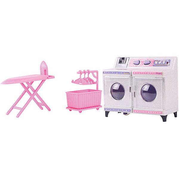 Набор мебели для кукол Прачечная, DollyToyИдеи подарков<br>Характеристики товара:<br><br>• возраст от 3 лет;<br>• материал: пластик;<br>• с подсветкой (батарейки в комплекте)<br>• подходит для кукол высотой до 29 см<br>• в комплекте: корзина, гладильная доска, стиральная машина, аксессуары;<br>• размер упаковки 31х21х9,5 см;<br>• вес упаковки 730 гр.;<br>• страна производитель: Китай.<br><br>Набор мебели для кукол «Прачечная» DollyToy включает в себя предметы по уходу за домом и бельем: стиральную машину, гладильную доску, сушку с плечиками. Стиральная машина имеет отсек для воды и водоотводный шланг. С набором девочка сможет придумывать свои сюжеты и истории для игры, проявляя фантазию. Игрушка изготовлена из качественного безопасного пластика.<br><br>Набор мебели для кукол «Прачечная» DollyToy можно приобрести в нашем интернет-магазине.<br><br>Ширина мм: 310<br>Глубина мм: 210<br>Высота мм: 95<br>Вес г: 730<br>Возраст от месяцев: 36<br>Возраст до месяцев: 72<br>Пол: Женский<br>Возраст: Детский<br>SKU: 5581272