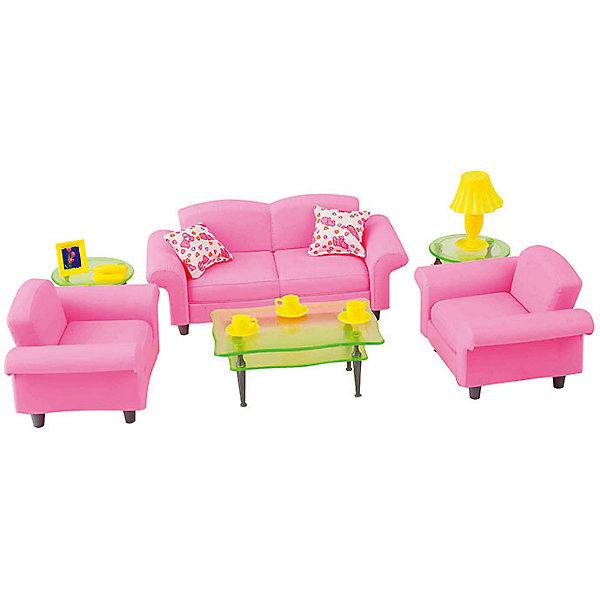 Набор мебели для кукол Гостиная люкс, DollyToyИдеи подарков<br>Характеристики товара:<br><br>• возраст от 3 лет;<br>• материал: пластик;<br>• в комплекте: столик, диван, кресла, аксессуары;<br>• подходит для кукол высотой до 29 см<br>• размер упаковки 24,8х23,7х6 см;<br>• вес упаковки 500 гр.;<br>• страна производитель: Китай.<br><br>Набор мебели для кукол «Гостиная люкс» DollyToy включает предметы для обустройства гостиной в домике куклы: журнальный столик, диван, кресла, лампу. С набором девочка сможет придумывать свои сюжеты и истории для игры, проявляя фантазию. Игрушка изготовлена из качественного безопасного пластика.<br><br>Набор мебели для кукол «Гостиная люкс» DollyToy можно приобрести в нашем интернет-магазине.<br><br>Ширина мм: 248<br>Глубина мм: 237<br>Высота мм: 60<br>Вес г: 500<br>Возраст от месяцев: 36<br>Возраст до месяцев: 72<br>Пол: Женский<br>Возраст: Детский<br>SKU: 5581277