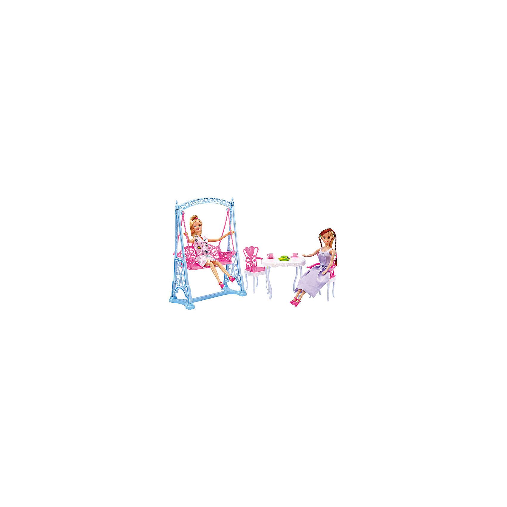 Набор мебели для кукол Вечеринка в саду, DollyToyИдеи подарков<br><br><br>Ширина мм: 290<br>Глубина мм: 200<br>Высота мм: 70<br>Вес г: 460<br>Возраст от месяцев: 36<br>Возраст до месяцев: 72<br>Пол: Женский<br>Возраст: Детский<br>SKU: 5581279