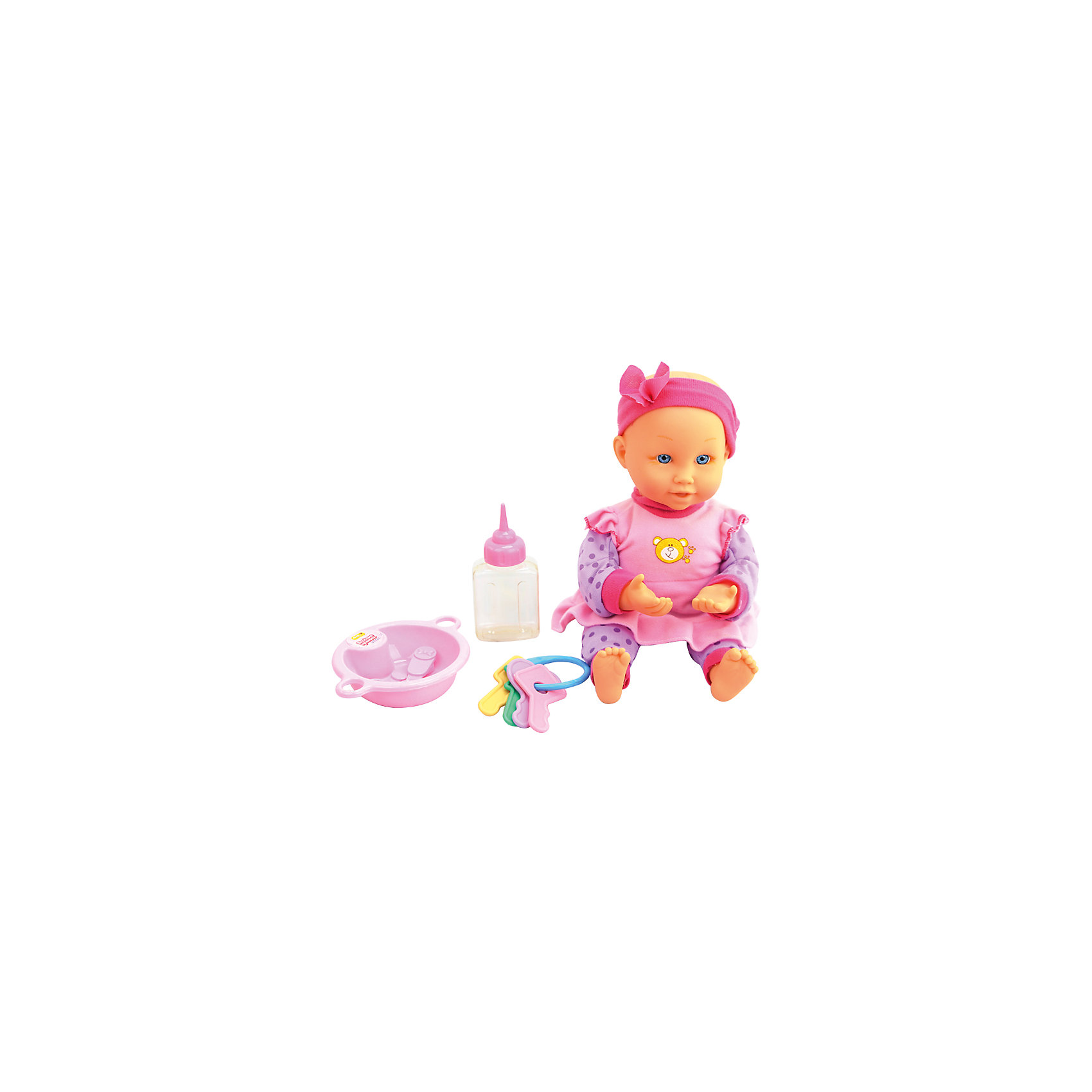 Интерактивная кукла-младенец  Весёлые прятки, 32 см, DollyToyИнтерактивные куклы<br>Характеристики товара:<br><br>• возраст от 3 лет;<br>• материал: пластик, текстиль;<br>• в комплекте: кукла, аксессуары;<br>• высота куклы 32 см;<br>• размер упаковки 30х33,5х15,5 см;<br>• вес упаковки 992 гр.;<br>• страна производитель: Китай.<br><br>Интерактивная кукла-младенец «Веселые прятки» DollyToy привьет девочке чувство заботы, любви, ответственности. Кукла любит играть в прятки, она закрывает глазки и ждет, пока все спрячутся. Во время игры она весело смеется. Когда малышка захочет покушать, то ее надо покормить из бутылочки. <br><br>Интерактивную куклу-младенец «Веселые прятки» DollyToy можно приобрести в нашем интернет-магазине.<br><br>Ширина мм: 300<br>Глубина мм: 155<br>Высота мм: 335<br>Вес г: 992<br>Возраст от месяцев: 36<br>Возраст до месяцев: 72<br>Пол: Женский<br>Возраст: Детский<br>SKU: 5581280