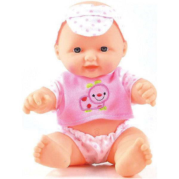 Пупс Маленький сладкоежка, 24 см, DollyToyКуклы<br>Характеристики товара:<br><br>• возраст от 3 лет;<br>• материал: пластик, текстиль;<br>• в комплекте: кукла;<br>• высота куклы 24 см;<br>• размер упаковки 20х15,5х11 см;<br>• вес упаковки 330 гр.;<br>• страна производитель: Китай.<br><br>Пупс «Маленький сладкоежка» DollyToy привьет девочке чувство заботы и ответственности. У карапуза добрые темные глазки. Он одет в розовые трусишки и футболочку. С ним девочка может придумывать сюжеты для игры, заботясь о малыше, укладывая его спать.<br><br>Пупса «Маленький сладкоежка» DollyToy можно приобрести в нашем интернет-магазине.<br>Ширина мм: 155; Глубина мм: 110; Высота мм: 200; Вес г: 330; Возраст от месяцев: 36; Возраст до месяцев: 72; Пол: Женский; Возраст: Детский; SKU: 5581287;