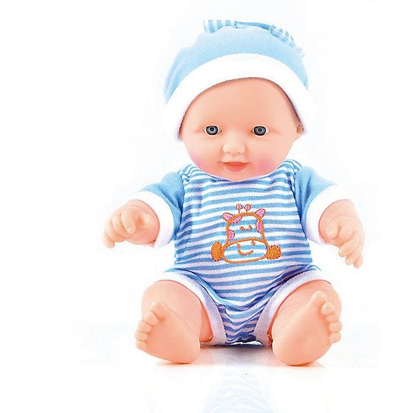 Пупс Смышлённый малыш, 24 см, DollyToyКуклы<br>Характеристики товара:<br><br>• возраст от 3 лет;<br>• материал: пластик, текстиль;<br>• в комплекте: кукла;<br>• высота куклы 24 см;<br>• размер упаковки 20х15,5х11 см;<br>• вес упаковки 333 гр.;<br>• страна производитель: Китай.<br><br>Пупс «Смышленный малыш» DollyToy привьет девочке чувство заботы и ответственности. У карапуза добрые темные глазки. Он одет в голубой комбинезон и шапочку. С ним девочка может придумывать сюжеты для игры, заботясь о малыше, укладывая его спать.<br><br>Пупса «Смышленный малыш» DollyToy можно приобрести в нашем интернет-магазине.<br><br>Ширина мм: 155<br>Глубина мм: 110<br>Высота мм: 200<br>Вес г: 333<br>Возраст от месяцев: 36<br>Возраст до месяцев: 72<br>Пол: Женский<br>Возраст: Детский<br>SKU: 5581289