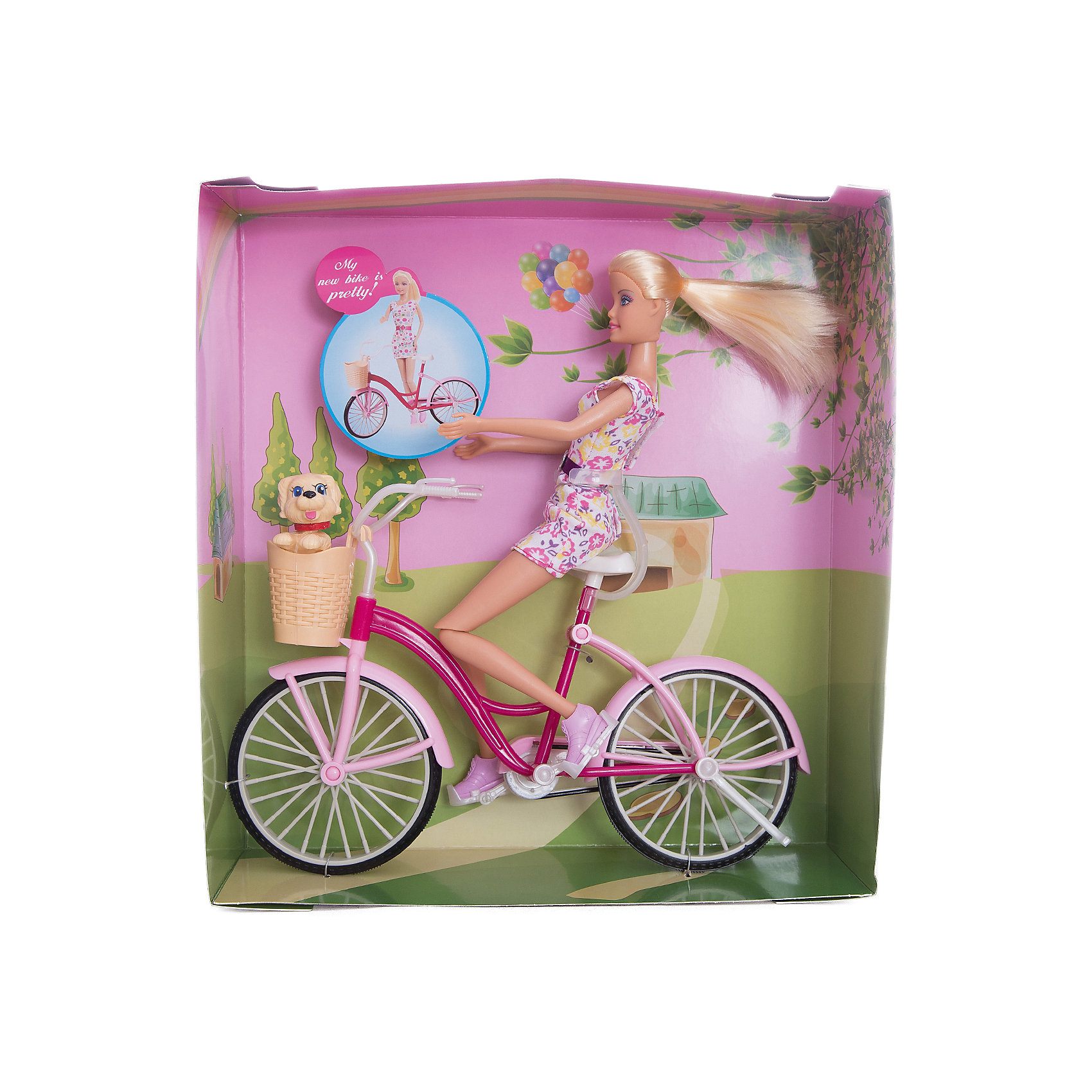 Кукла Велопрогулка, 27 см, Defa LucyКуклы-модели<br>Характеристики товара:<br><br>• возраст от 3 лет;<br>• материал: пластик, текстиль;<br>• в комплекте: кукла, собачка, велосипед;<br>• у куклы подвижные ноги<br>• высота куклы 27 см;<br>• размер упаковки 31,5х29х9,5 см;<br>• вес упаковки 580 гр.;<br>• страна производитель: Китай.<br><br>Кукла «Велопрогулка» Defa Lucy — куколка, одетая в стильное платье с поясом и розовые туфельки. Кукла любит заниматься спортом и летом часто выходит покататься на велосипеде. Ее всегда сопровождает любимый питомец — маленькая собачка. С куклой девочка может придумывать свои истории для игр. У куклы подвижные ноги, мягкие волосы, которые можно расчесать и заплести.<br><br>Куклу «Велопрогулка» Defa Lucy можно приобрести в нашем интернет-магазине.<br><br>Ширина мм: 290<br>Глубина мм: 95<br>Высота мм: 315<br>Вес г: 580<br>Возраст от месяцев: 36<br>Возраст до месяцев: 72<br>Пол: Женский<br>Возраст: Детский<br>SKU: 5581291