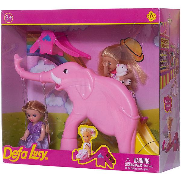 Набор из 2-х кукол В зоопарке, 11 см, 14 см, Defa LucyКуклы<br>Характеристики товара:<br><br>• возраст от 3 лет;<br>• материал: пластик, текстиль;<br>• в комплекте: 2 куклы, горка-слон;<br>• высота кукол 11 и 14 см;<br>• размер упаковки 28х25х8 см;<br>• вес упаковки 470 гр.;<br>• страна производитель: Китай.<br><br>Набор из 2 кукол «В зоопарке» Defa Lucy включает двух милых кукол, которые весело проводят время, катаясь на качелях и с горки в форме большого слона. Игрушки изготовлены из качественного безопасного материала.<br><br>Набор из 2 кукол «В зоопарке» Defa Lucy можно приобрести в нашем интернет-магазине.<br><br>Ширина мм: 280<br>Глубина мм: 250<br>Высота мм: 80<br>Вес г: 470<br>Возраст от месяцев: 36<br>Возраст до месяцев: 72<br>Пол: Женский<br>Возраст: Детский<br>SKU: 5581292