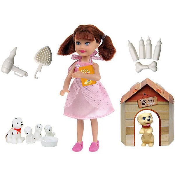 Кукла Любимый питомец, 14 см, Defa LucyКуклы<br>Характеристики товара:<br><br>• возраст от 3 лет;<br>• материал: пластик, текстиль;<br>• в комплекте: кукла, большая собачка, маленькая собачка, 3 щенка, будка, бутылочки, косточка, фен, расчёска, миска, корм для собак;<br>• высота куклы 14 см;<br>• размер упаковки 27,5х17х16 см;<br>• вес упаковки 190 гр.;<br>• страна производитель: Китай.<br><br>Кукла «Любимый питомец» Defa Lucy — озорная девочка, которая любит играть со своими питомцами. Она также заботится о них каждый день, приносит им корм и насыпает в миску. Собачки живут в уютном домике-будке. У куклы мягкие волосы, которые можно расчесывать, украшать и заплетать.<br><br>Куклу «Любимый питомец» Defa Lucy можно приобрести в нашем интернет-магазине.<br>Ширина мм: 275; Глубина мм: 160; Высота мм: 170; Вес г: 190; Возраст от месяцев: 36; Возраст до месяцев: 72; Пол: Женский; Возраст: Детский; SKU: 5581299;