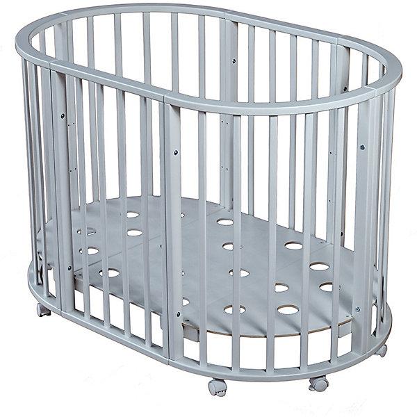 Кроватка овальная Николь,Мой Малыш, белыйДетские кроватки<br>Характеристики товара:<br><br>• возраст: с рождения;<br>• материал: дерево;<br>• размер овальной кровати: 136х85х91 см;<br>• размер круглой кровати: 86х86х91 см;<br>• спальное место овальной кровати: 125х75 см;<br>• спальное место круглой кровати: 75х75 см;<br>• вес: 23 кг;<br>• страна производитель: Россия.<br><br>Кроватка овальная «Николь» Мой Малыш белая превращается в круглую кровать путем снятия двух боковых заграждений. Дно устанавливается на 3 разных уровнях высоты. 8 колес со стопорами облегчают перемещение по комнате. Кровать выполнена из натурального дерева и хорошо отшлифована.<br><br>Кроватку овальную «Николь» Мой Малыш белую можно приобрести в нашем интернет-магазине.<br><br>Ширина мм: 1230<br>Глубина мм: 970<br>Высота мм: 235<br>Вес г: 23000<br>Возраст от месяцев: 0<br>Возраст до месяцев: 36<br>Пол: Унисекс<br>Возраст: Детский<br>SKU: 5582062
