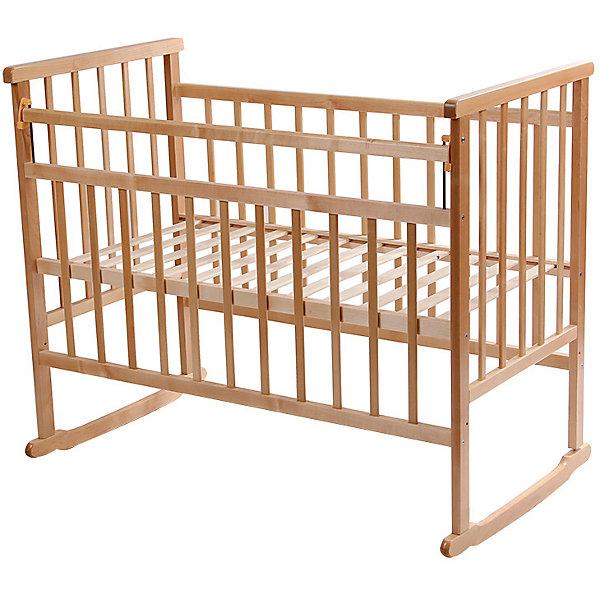Кроватка-качалка, Мой Малыш, светлыйДетские кроватки<br>Характеристики товара:<br><br>• возраст: с рождения;<br>• материал: дерево;<br>• спальное место: 120х60 см;<br>• размер кровати: 125х109х70 см;<br>• вес: 20 кг;<br>• страна производитель: Россия.<br><br>Кроватка-качалка Мой Малыш светлая подходит для малышей с самого рождения. Благодаря пологим основаниям она поможет укачать и убаюкать кроху. На основаниях предусмотрены отверстия для крепления колес при необходимости (колеса приобретаются отдельно). Кровать выполнена из натурального дерева и хорошо отшлифована.<br><br>Кроватку-качалку Мой Малыш светлую можно приобрести в нашем интернет-магазине.<br><br>Ширина мм: 125<br>Глубина мм: 775<br>Высота мм: 170<br>Вес г: 20000<br>Возраст от месяцев: 0<br>Возраст до месяцев: 36<br>Пол: Унисекс<br>Возраст: Детский<br>SKU: 5582065