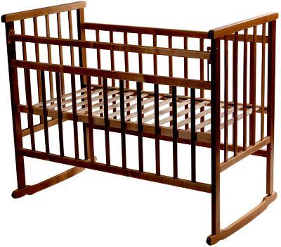 Кроватка-качалка, Мой Малыш, темный фото-1