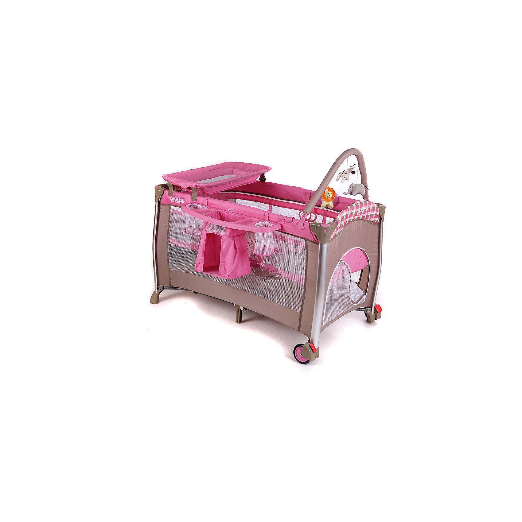 Манеж-кровать Flora Grils Toys, PitusoМанежи-кроватки<br>PITUSO Манеж-кровать FLORA GRILS TOYS, БЕЗ КАПОРА,дуга с игр, муз.бл.со св,звук,вибр,скл.пелен.стол<br><br>Ширина мм: 950<br>Глубина мм: 580<br>Высота мм: 220<br>Вес г: 9800<br>Возраст от месяцев: 0<br>Возраст до месяцев: 36<br>Пол: Унисекс<br>Возраст: Детский<br>SKU: 5582095