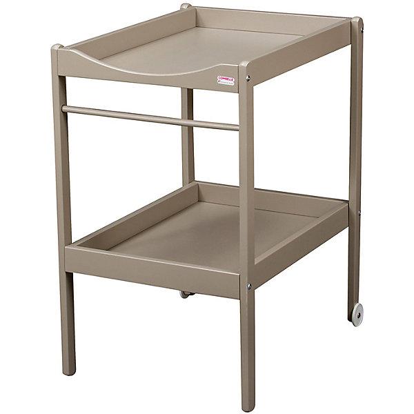 Пеленальный столик  Alice, Combelle, серыйПеленальные столы<br>Характеристики товара:<br><br>• возраст: с рождения;<br>• материал: дерево;<br>• размер стола: 90х50х70 см;<br>• вес упаковки: 6 кг;<br>• страна производитель: Франция.<br><br>Пеленальный столик Alice Combelle серый — удобный столик для пеленания, переодевания малыша и процедур по уходу за ребенком. Оснащен полочкой для хранения полотенец, вещей, гигиенических принадлежностей. 2 колесика облегчают перемещение по комнате. Столик выполнен из натурального дерева и хорошо отшлифован.<br><br>Пеленальный столик Alice Combelle серый можно приобрести в нашем интернет-магазине.<br><br>Ширина мм: 490<br>Глубина мм: 910<br>Высота мм: 55<br>Вес г: 6000<br>Возраст от месяцев: 0<br>Возраст до месяцев: 24<br>Пол: Унисекс<br>Возраст: Детский<br>SKU: 5582100