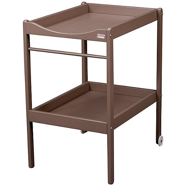 Пеленальный столик Alice, 2 колеса, Combelle, светлый шоколадПеленальные столы<br>Характеристики товара:<br><br>• возраст: с рождения;<br>• материал: дерево;<br>• размер стола: 90х50х70 см;<br>• вес упаковки: 6 кг;<br>• страна производитель: Франция.<br><br>Пеленальный столик Alice Combelle светлый шоколад — удобный столик для пеленания, переодевания малыша и процедур по уходу за ребенком. Оснащен полочкой для хранения полотенец, вещей, гигиенических принадлежностей. 2 колесика облегчают перемещение по комнате. Столик выполнен из натурального дерева и хорошо отшлифован.<br><br>Пеленальный столик Alice Combelle светлый шоколад можно приобрести в нашем интернет-магазине.<br><br>Ширина мм: 490<br>Глубина мм: 910<br>Высота мм: 55<br>Вес г: 6000<br>Возраст от месяцев: 0<br>Возраст до месяцев: 24<br>Пол: Унисекс<br>Возраст: Детский<br>SKU: 5582104