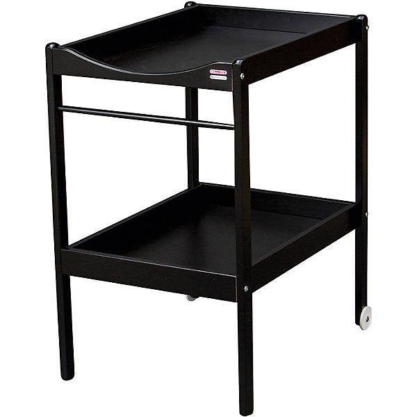 Пеленальный столик Alice, 2 колеса, Combelle, черный
